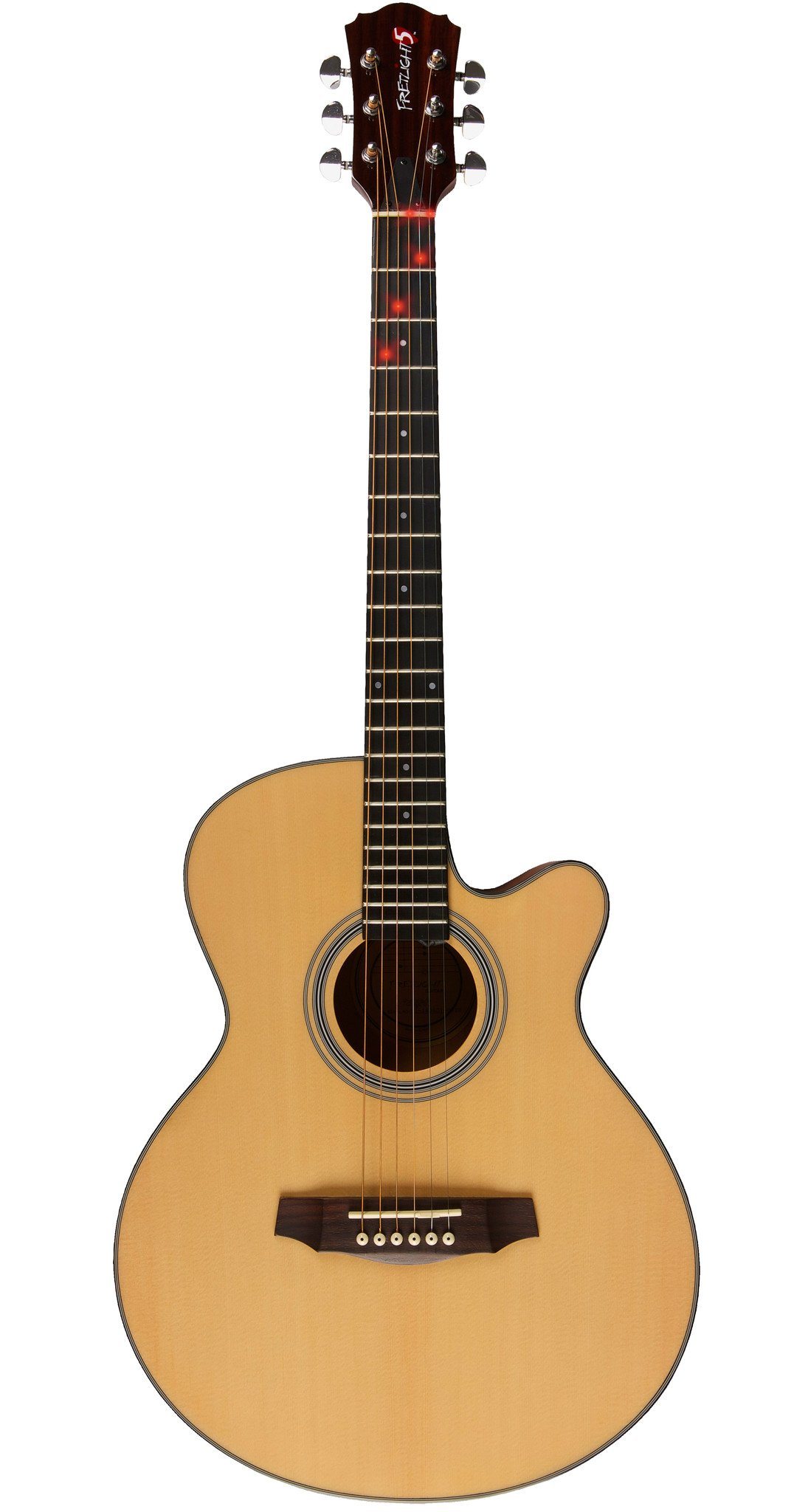 Sold Out - Fretlight 5 Wired Acoustic Guitar + FREE Standard ...