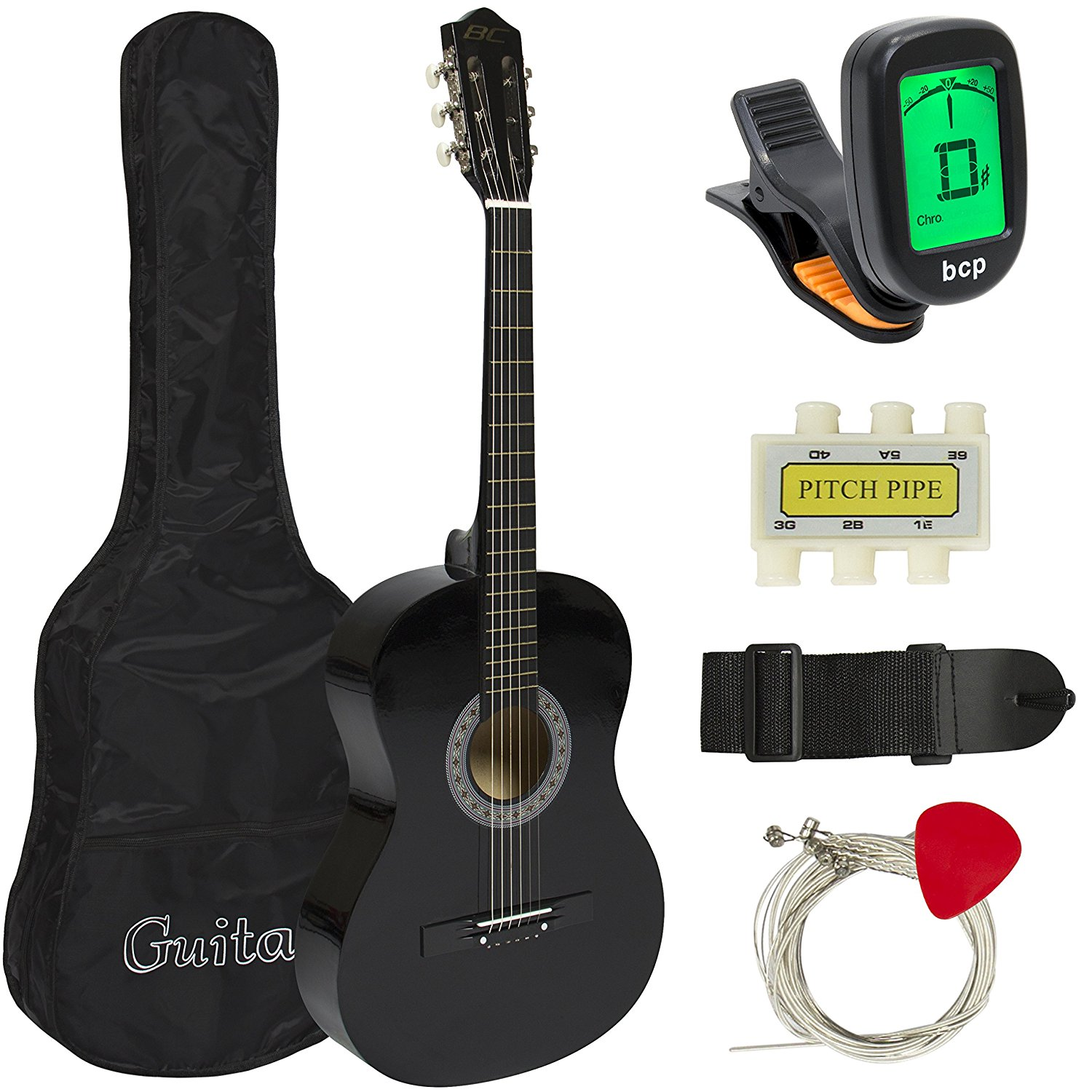 Amazon.com: Best Choice Products Beginners 38'' Acoustic Guitar with ...