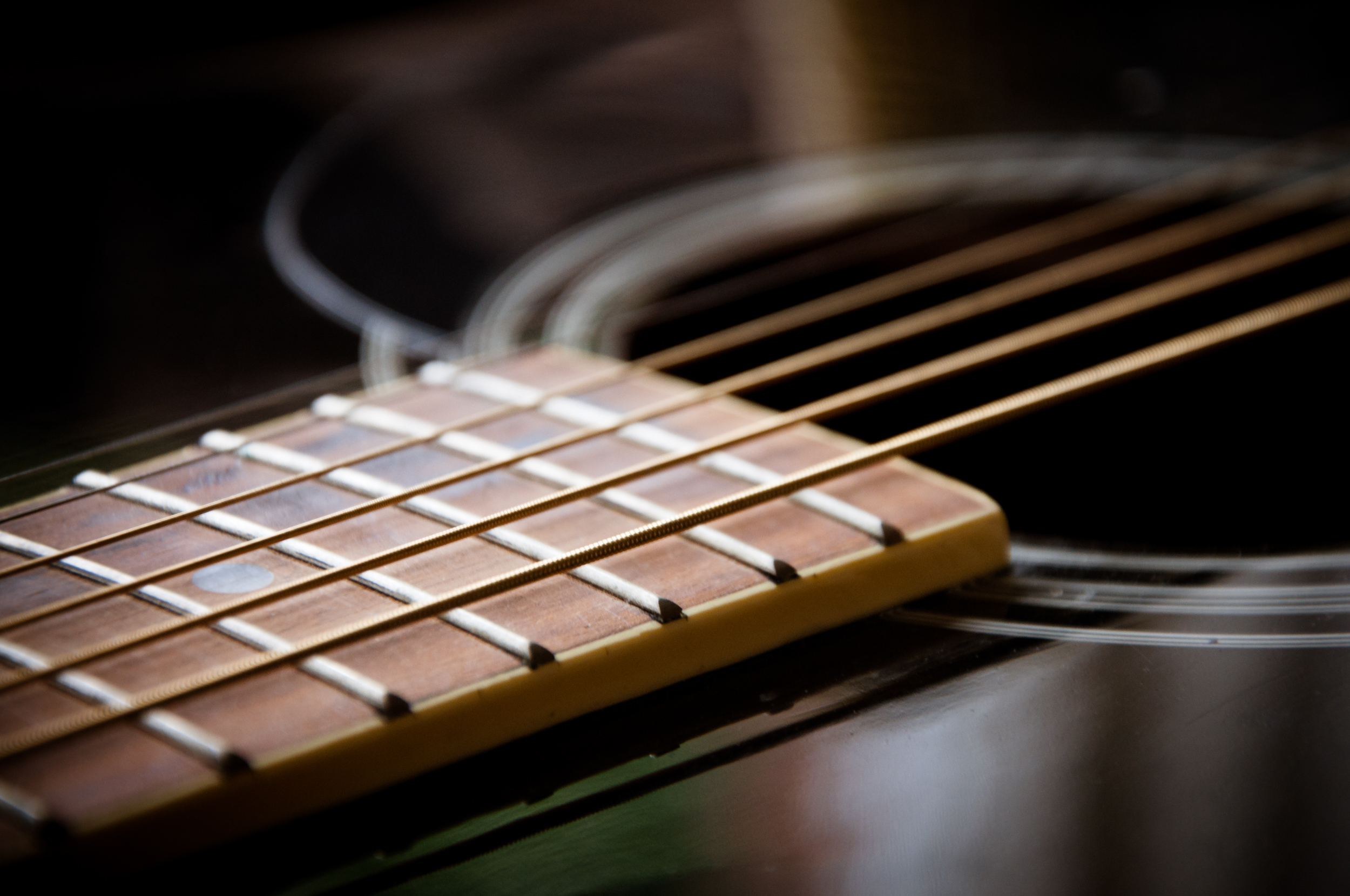 Guitar close up, Musical, White, Vintage, String, HQ Photo