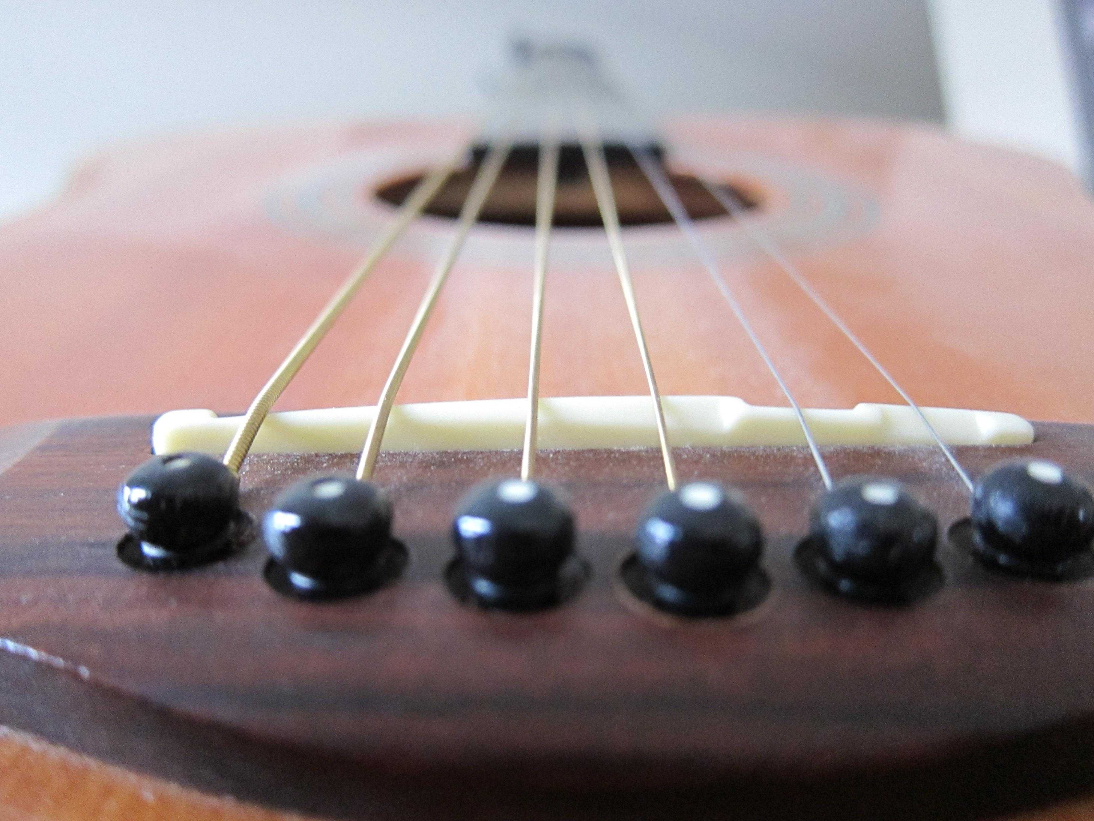 Guitar from the bridge photo