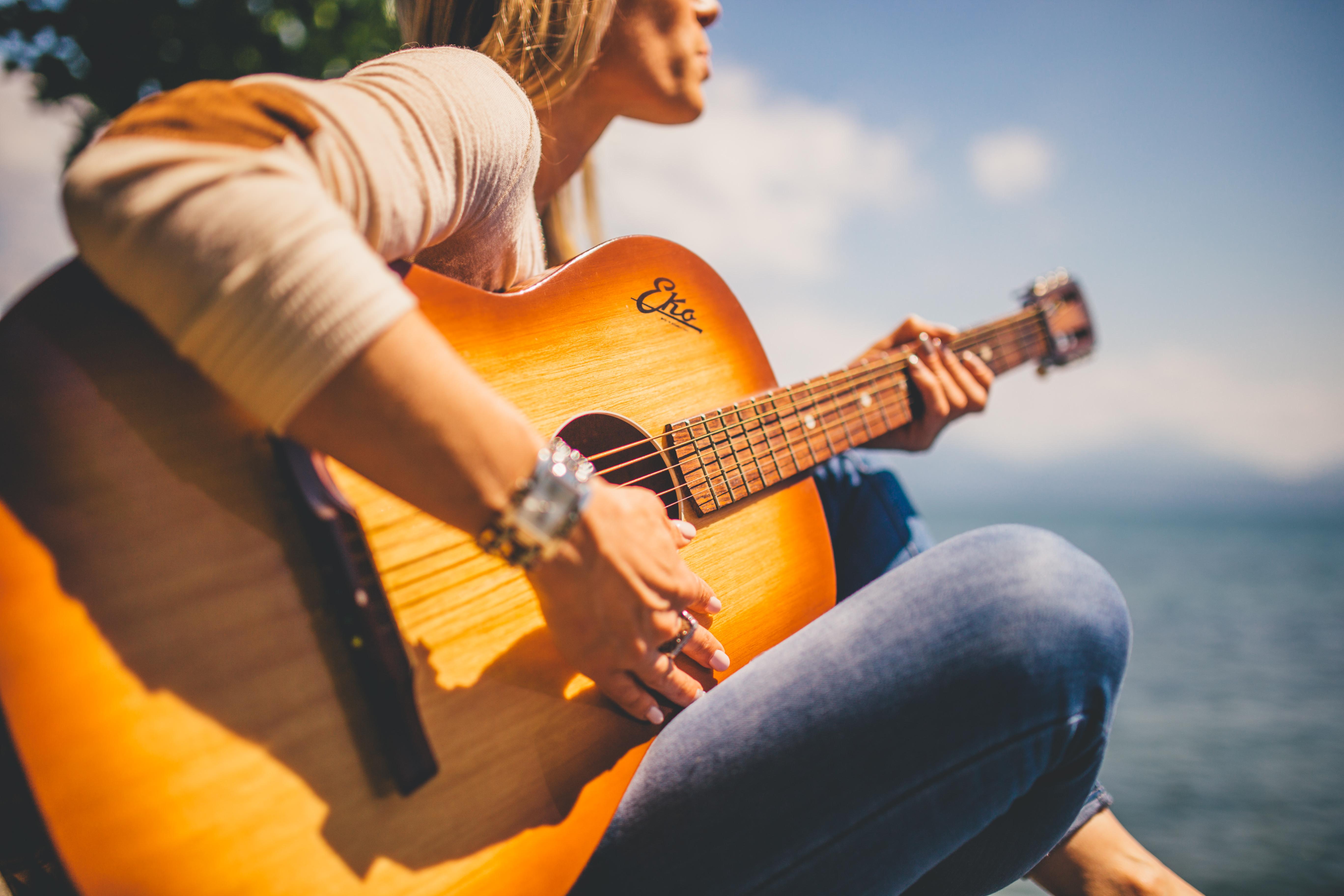 Guitarist, Activity, Guitar, Music, Outdoors, HQ Photo