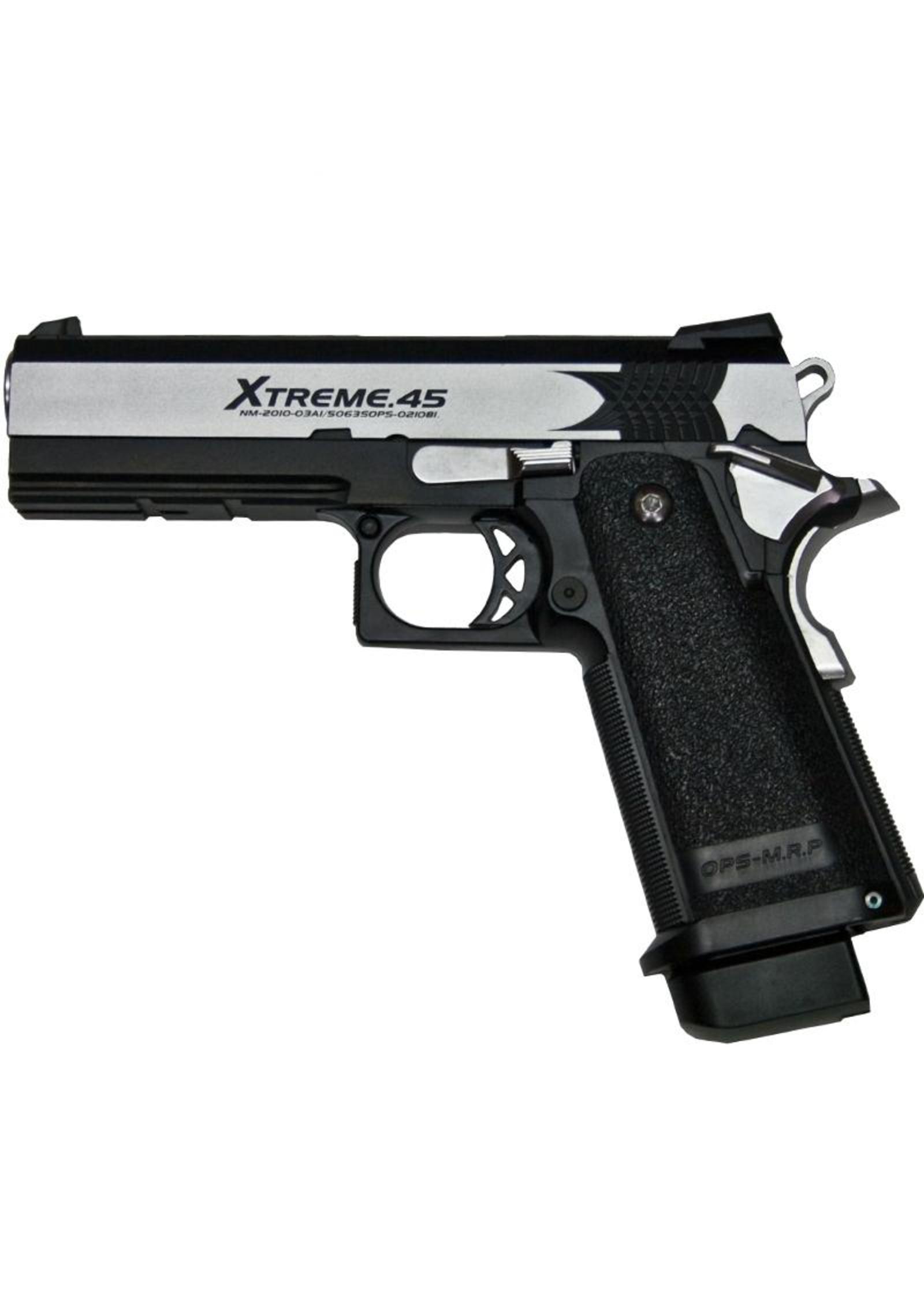 Tokyo Marui - XTreme .45 GBB Full Auto Pistol - Silver
