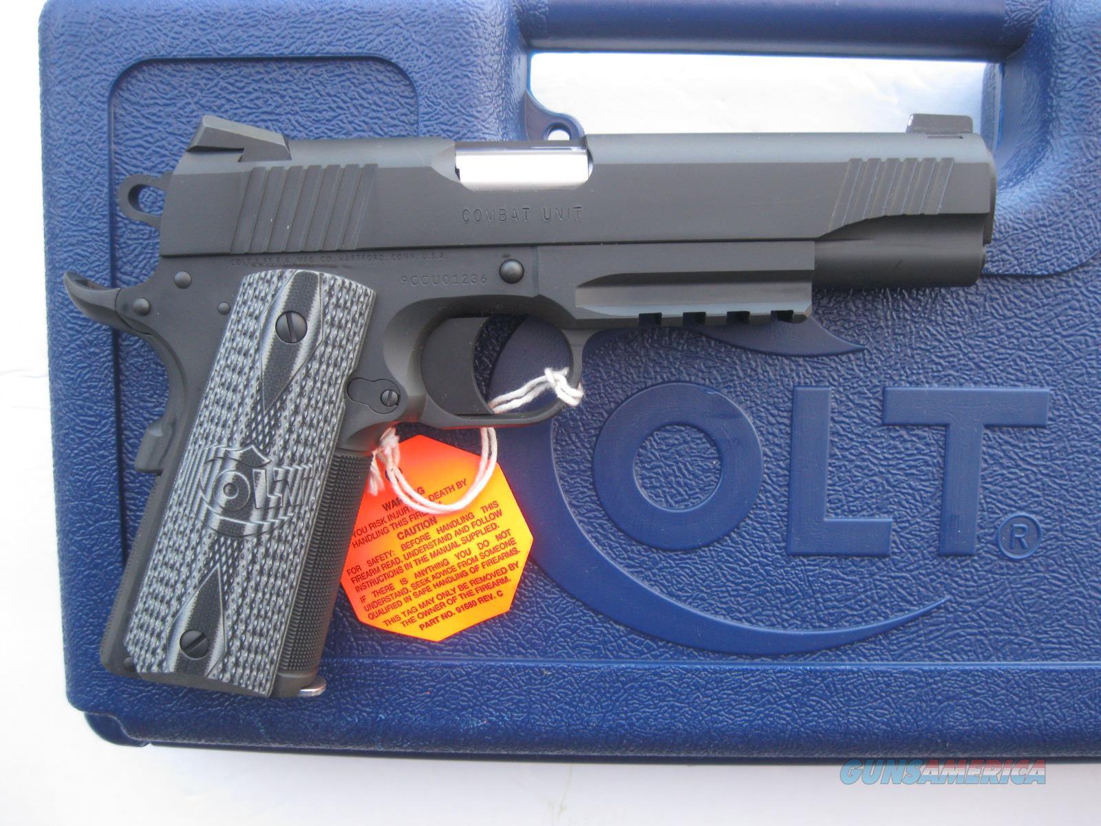 Colt Combat Unit Rail Gun 9mm 1911 Novak NS G10... for sale