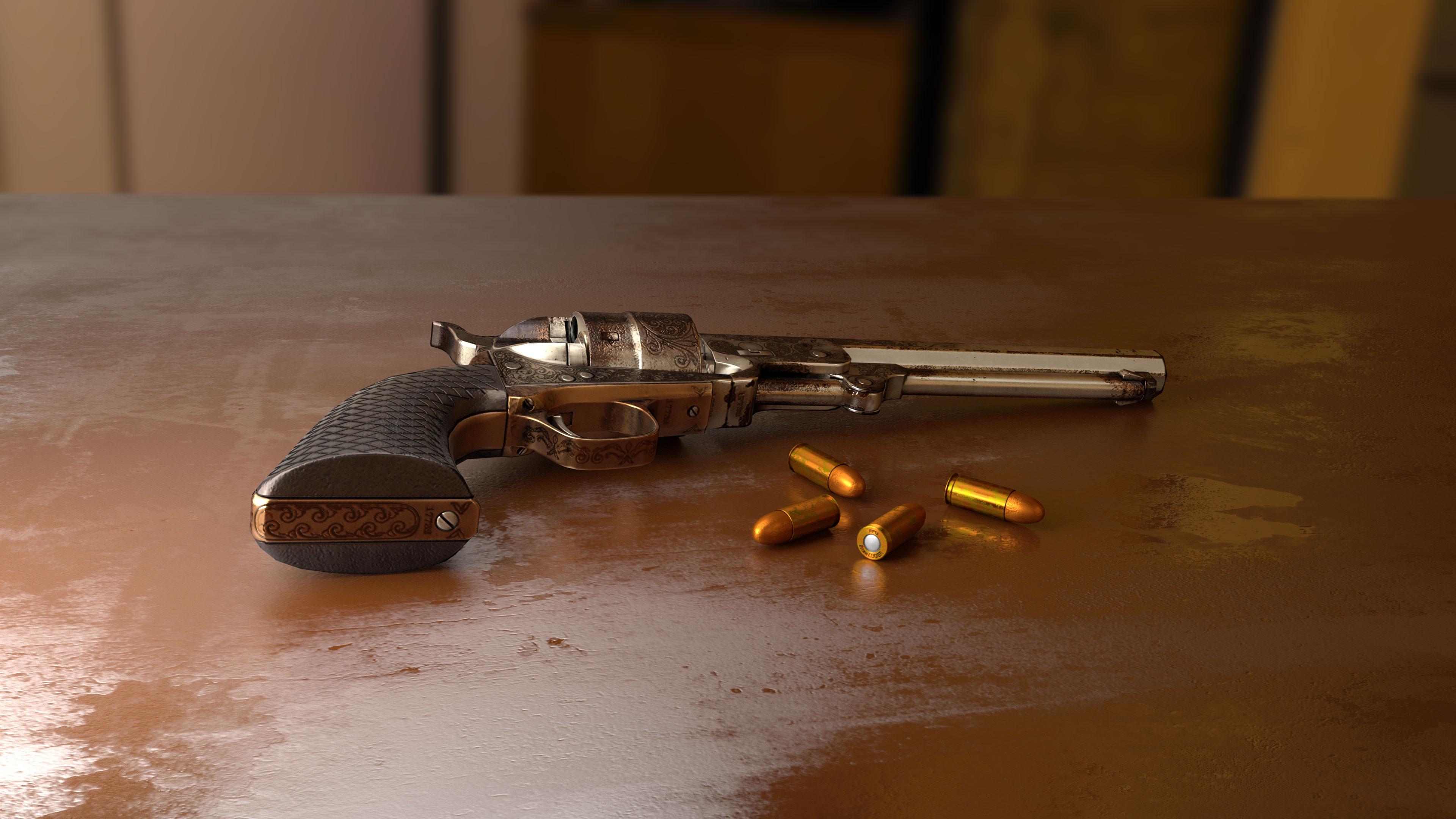 Gun with Bullets, Arm, Bullet, Fire, Gun, HQ Photo
