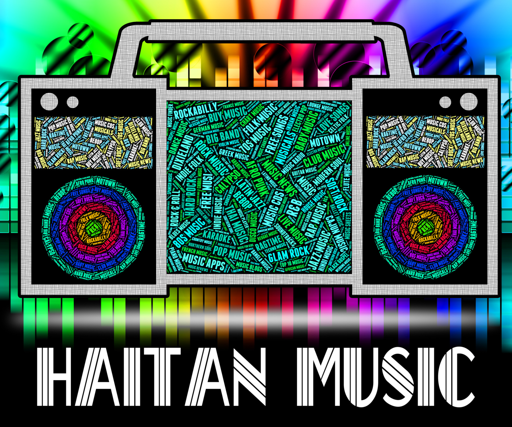 Haitian music indicates sound track and acoustic photo