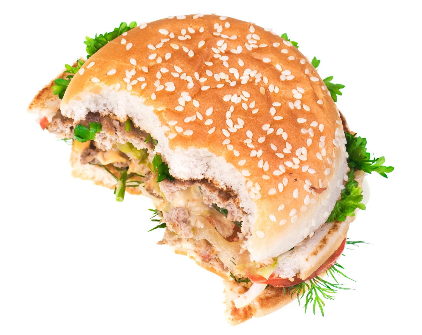 Half Eaten Hamburger