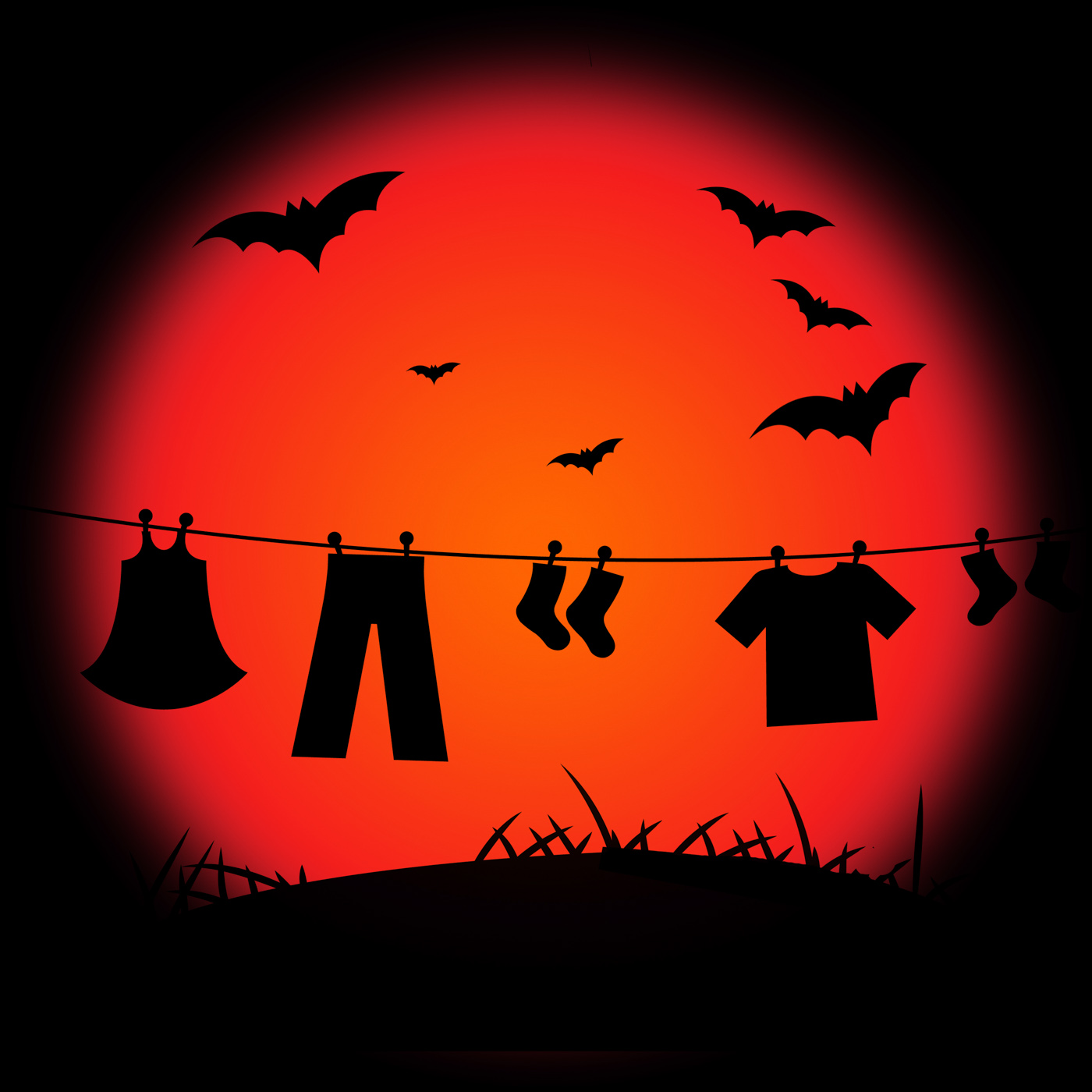 Halloween bat represents trick or treat and abstract photo