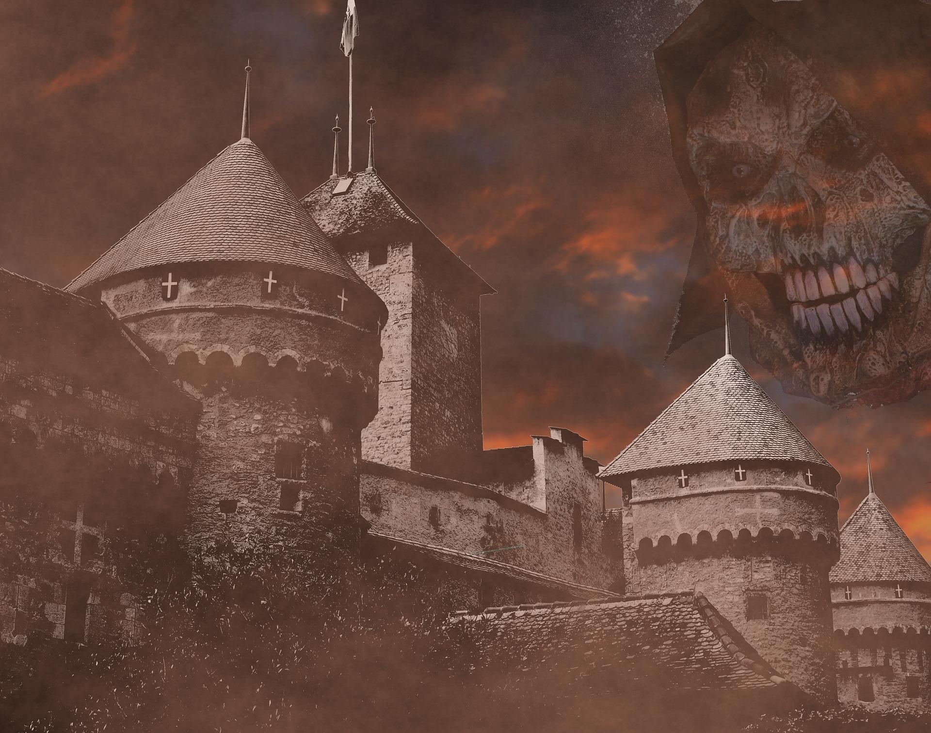 Halloween Horror, Castle, Construction, Dark, Death, HQ Photo