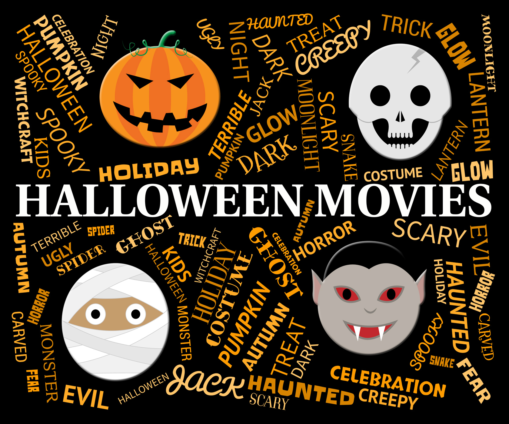 Halloween Movies Means Trick Or Treat And Cinema, Autumn, Horror, Trickortreat, Spooky, HQ Photo