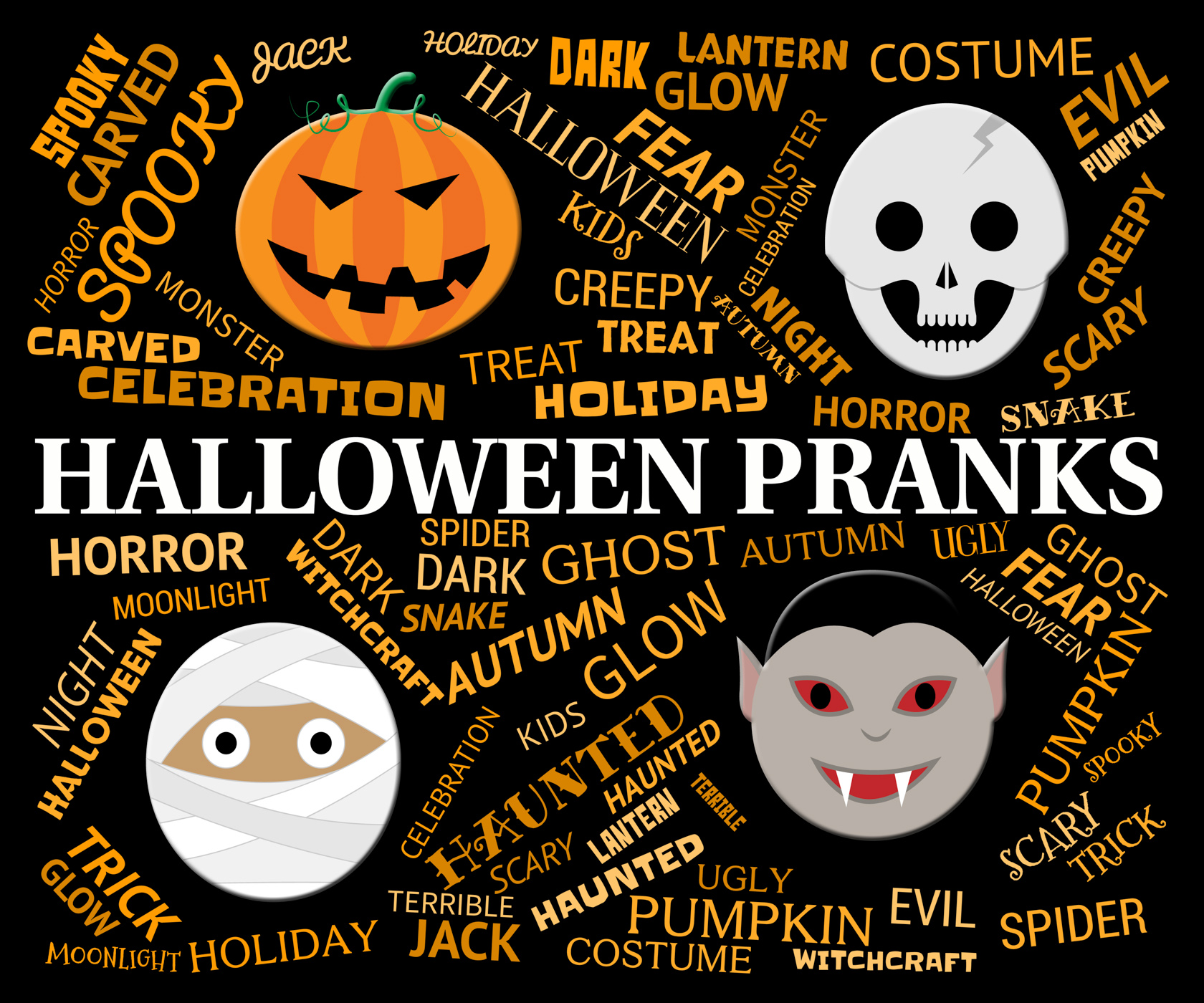 Halloween Pranks Represents Trick Or Treat And Autumn, Autumn, Humorous, Trick, Spooky, HQ Photo
