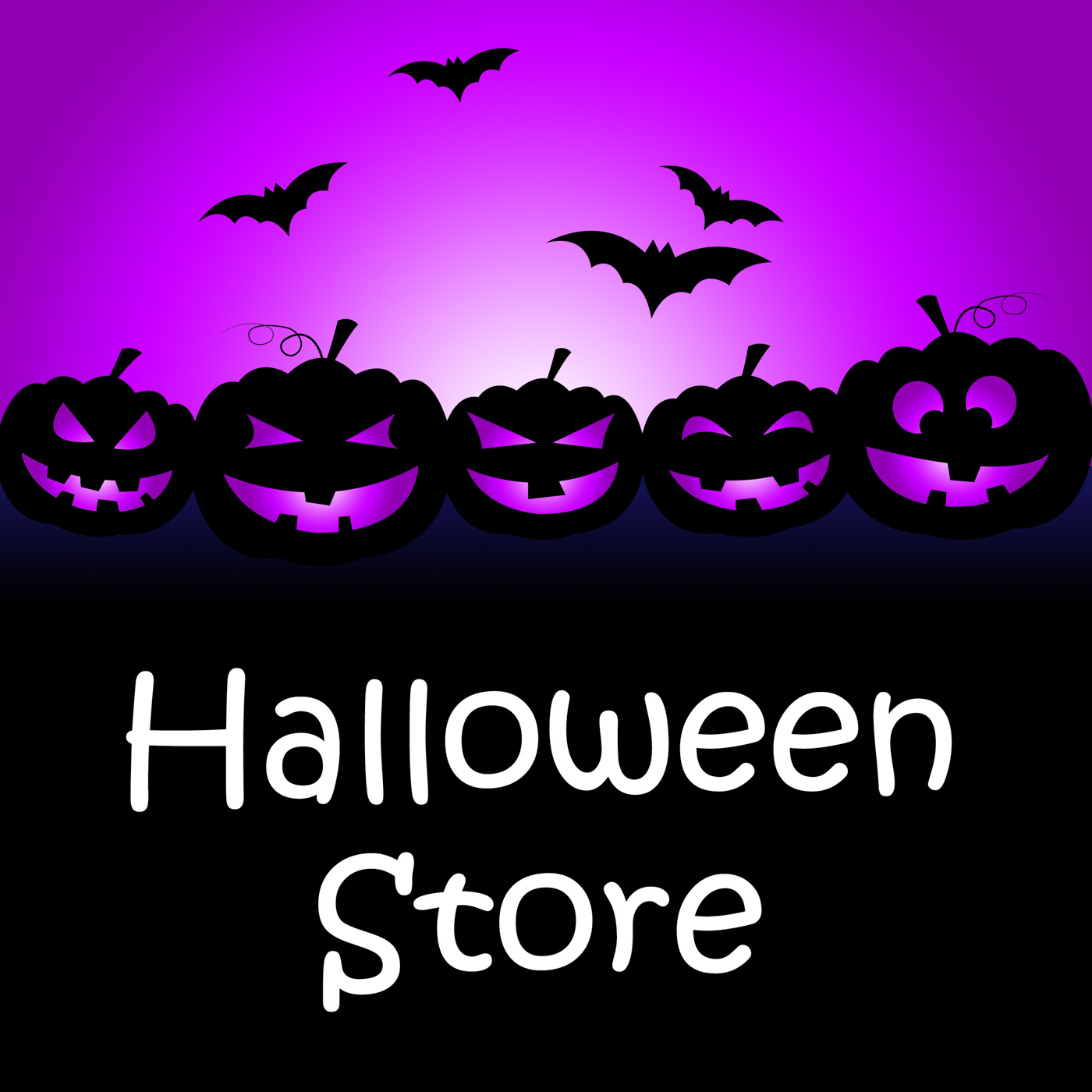 Halloween store shows buy it and celebration photo