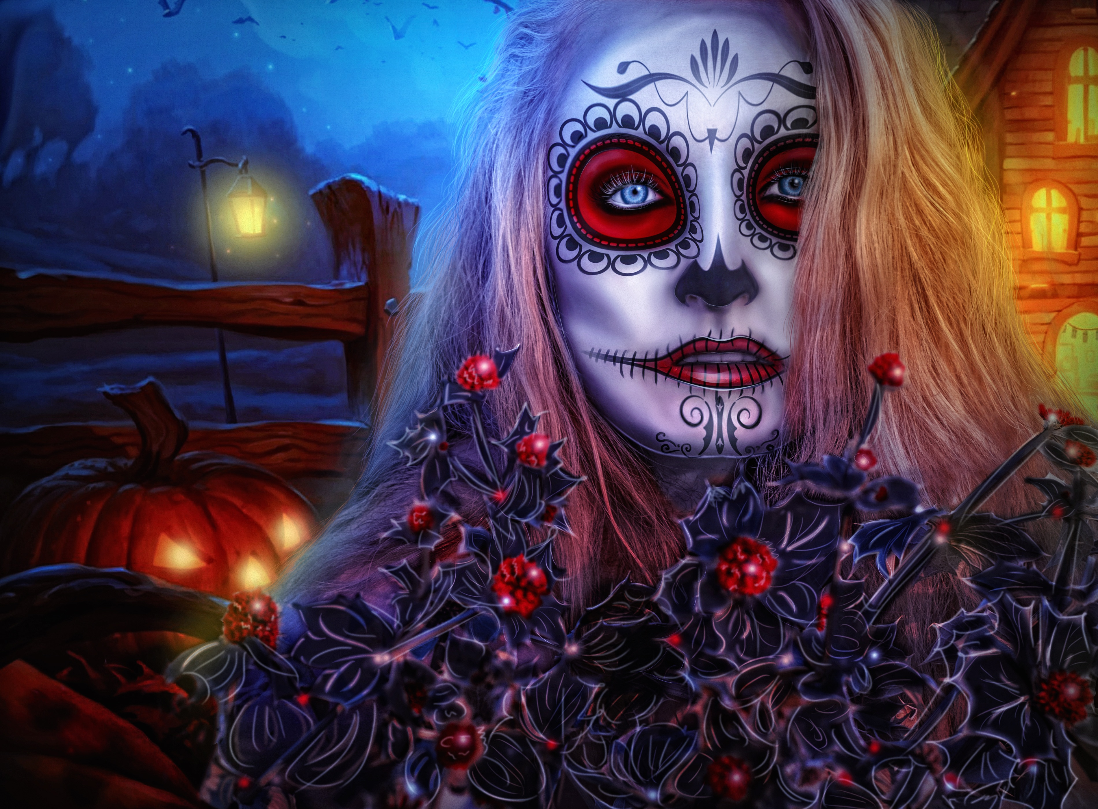 Halloween, Festival, Horror, Lady, Woman, HQ Photo
