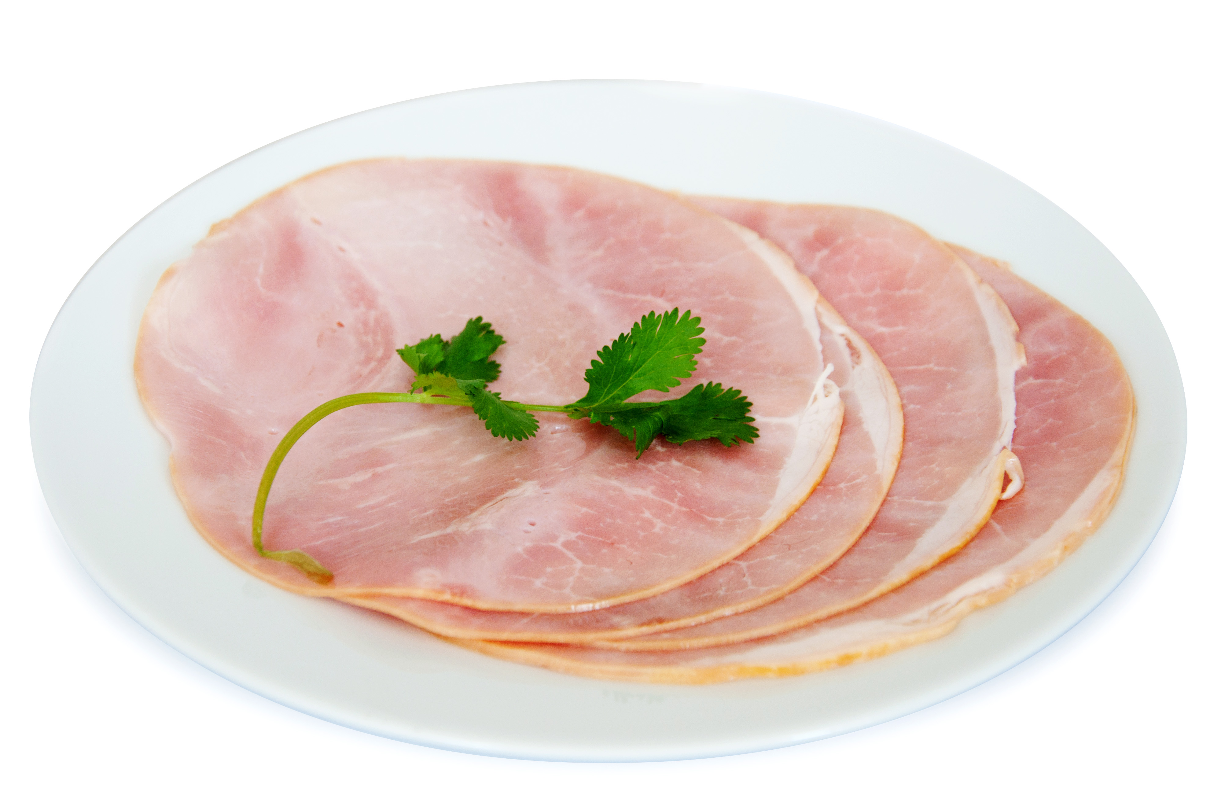 Ham slices, White, Photography, Traditional, Studio, HQ Photo