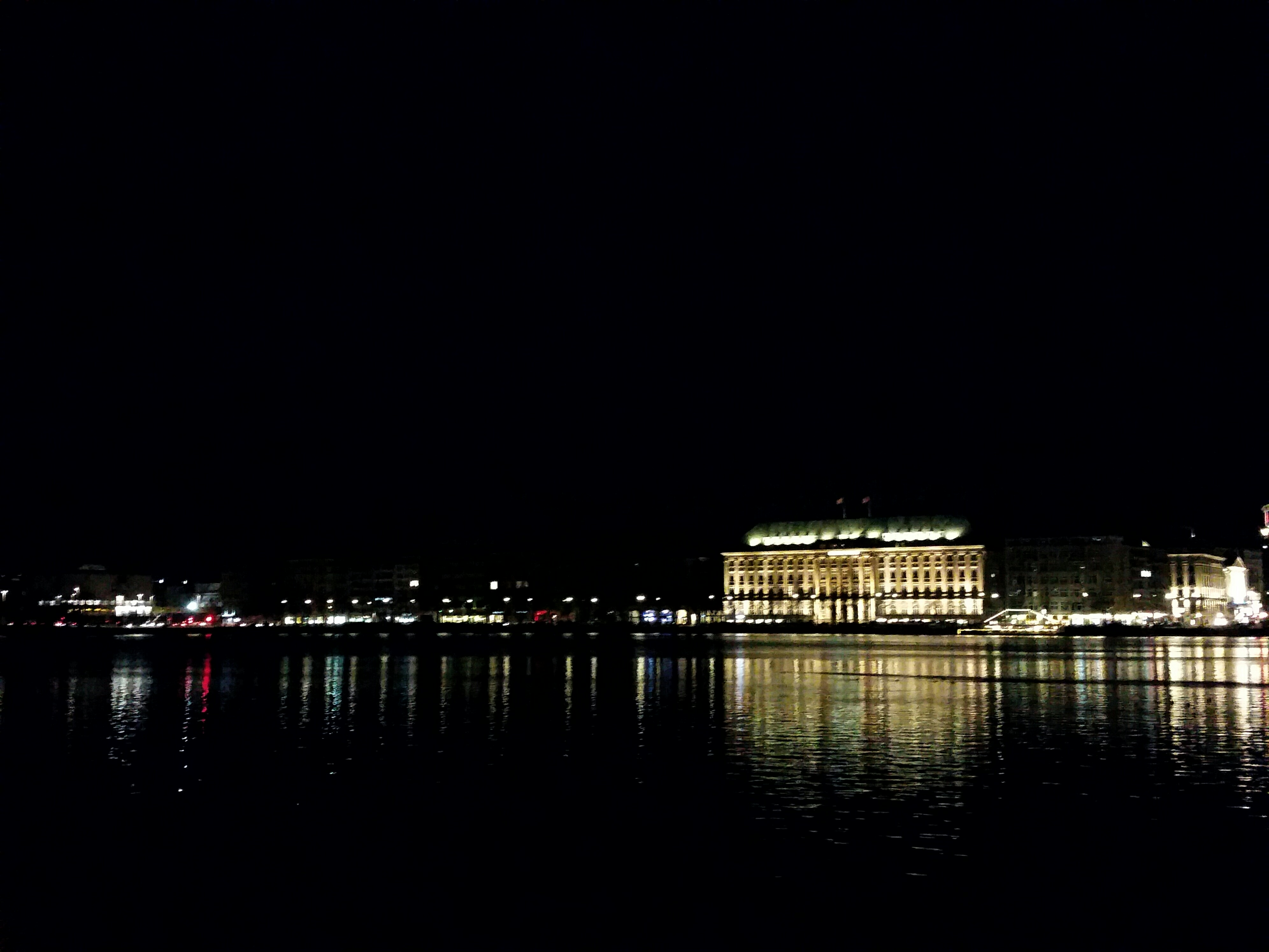 Hamburger Alster bei Nacht, Architecture, Black background, Bridge, Hamburg, HQ Photo