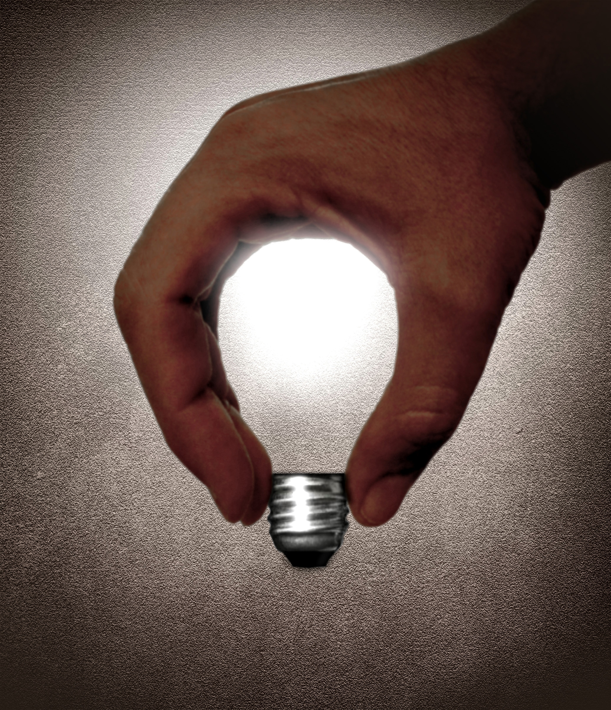 Hand and lightbulb - Creativity and idea, Abstract, Object, Power, Photons, HQ Photo