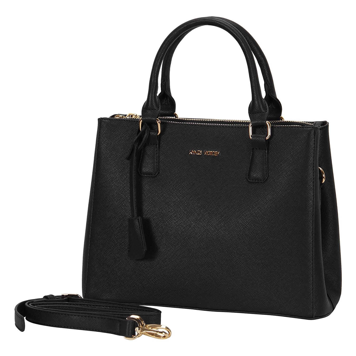 Amazon.com: Hynes Victory Womens Classy Satchel Handbag (Black): Shoes