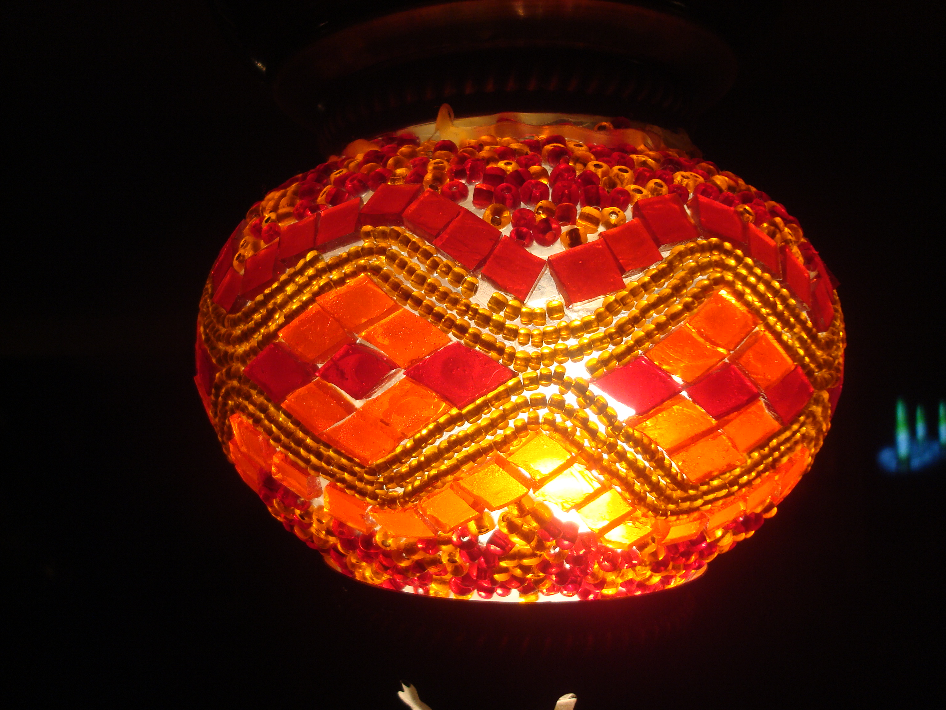 Hand made lamp, Art, Colorful, Craftsmanship, Glass, HQ Photo