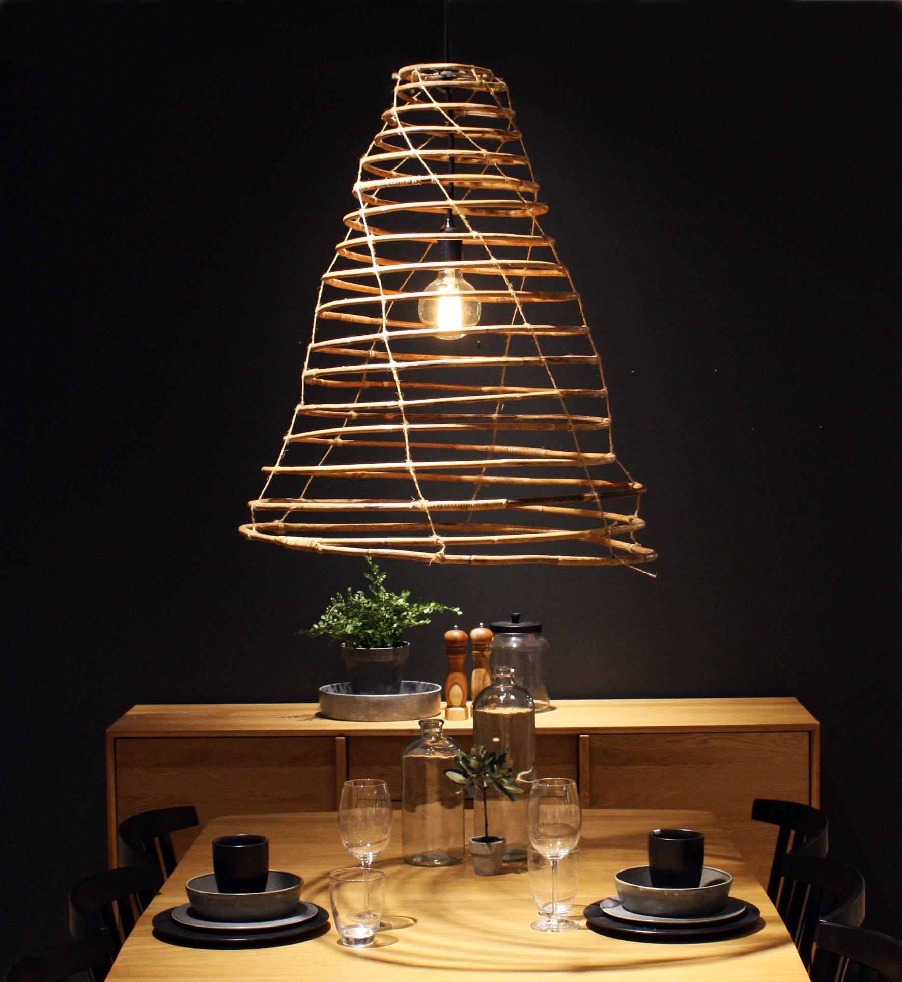 Form - a nomad design studio - Wish lamp handmade in rattan. Small