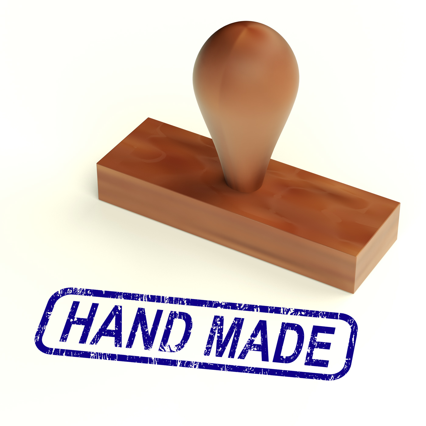 Hand made rubber stamp shows handmade products photo