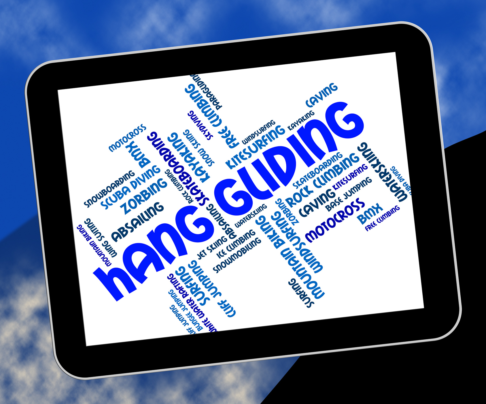 Hang gliding means hanggliders words and glide photo