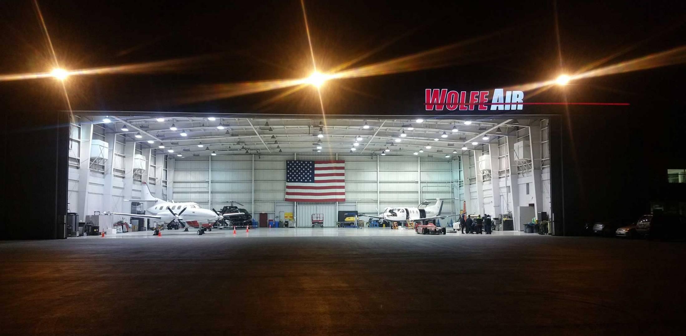 Hangar area photo