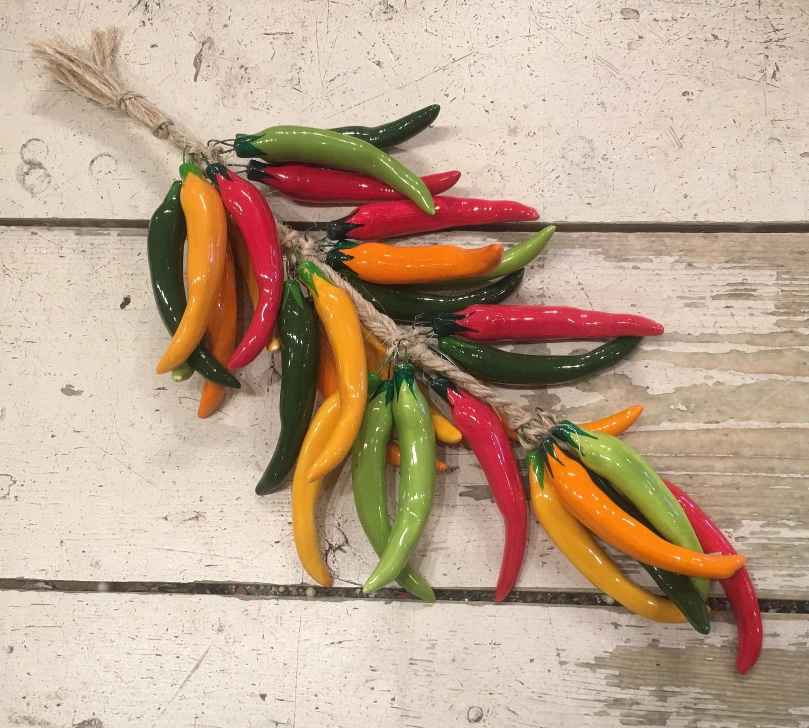 Multi Color Chili Pepper String / Chili Peppers / Hanging Chili ...