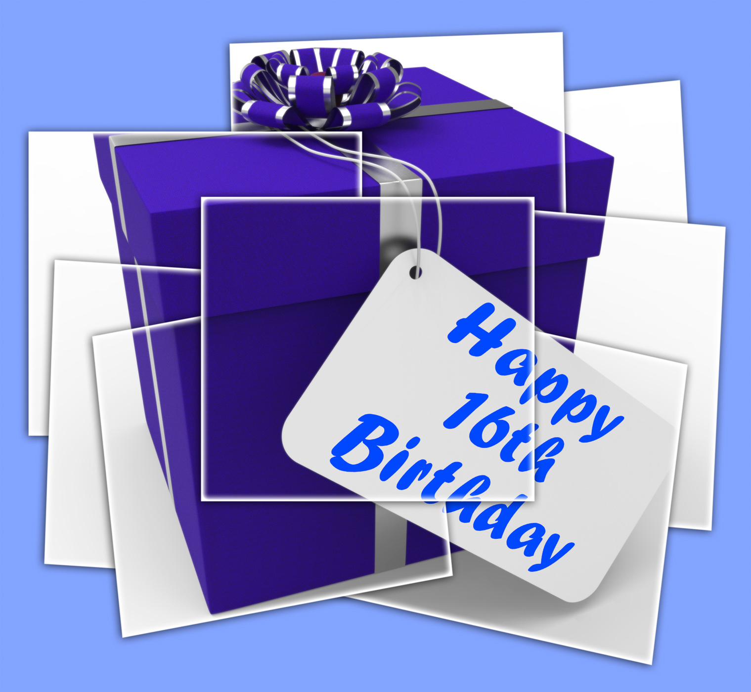 Happy 16th birthday gift displays congratulations age sixteen photo