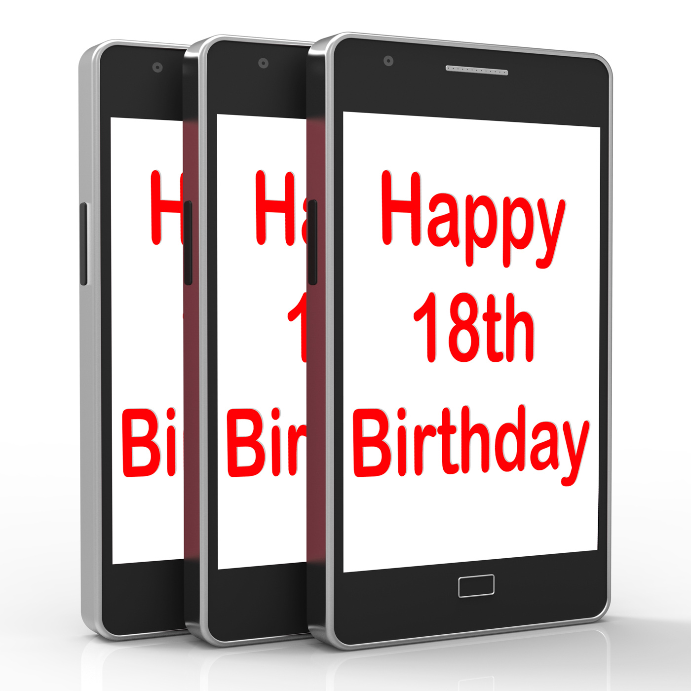 Happy 18th birthday on phone means eighteen photo