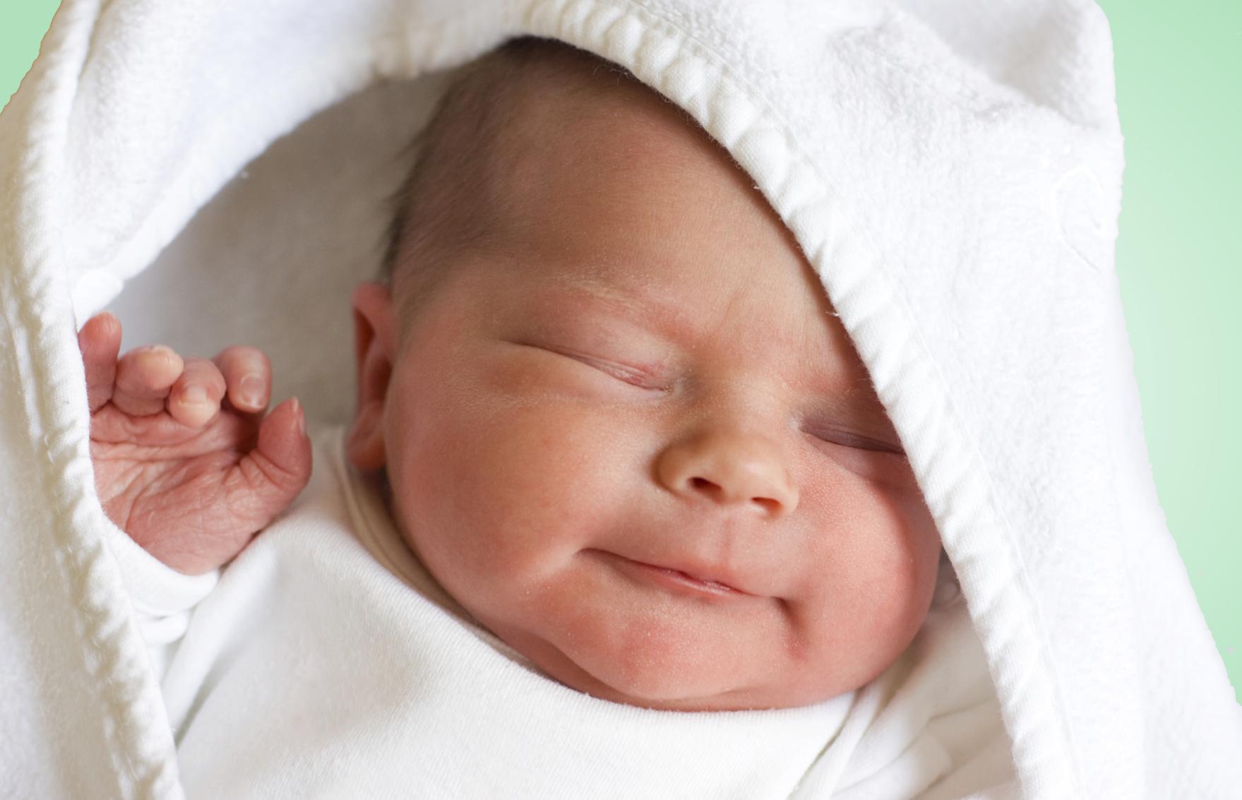 baby smiles |