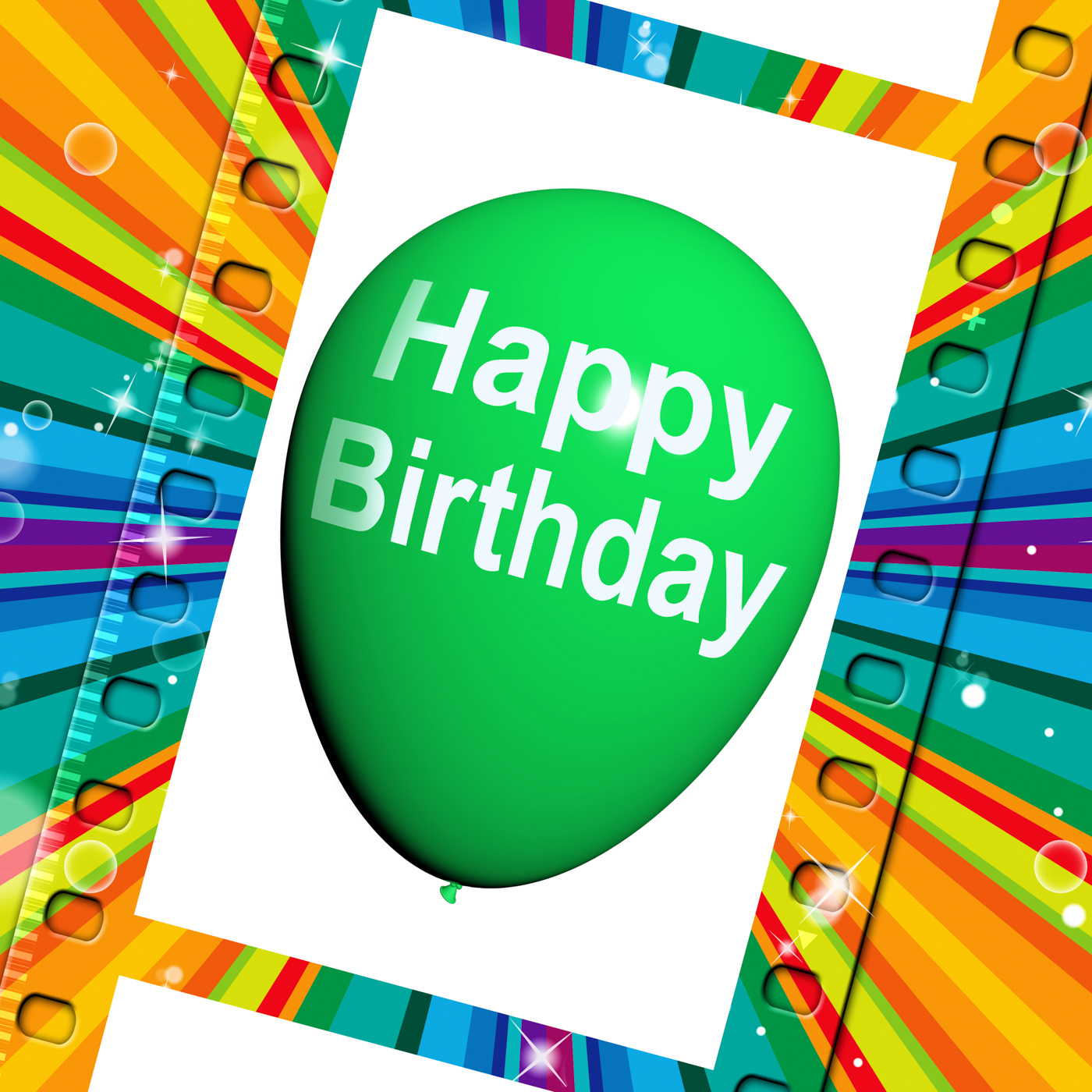 Happy Birthday Balloon Shows Cheerful Festivities and Party, Balloon, Birthday, Birthdays, Celebrate, HQ Photo