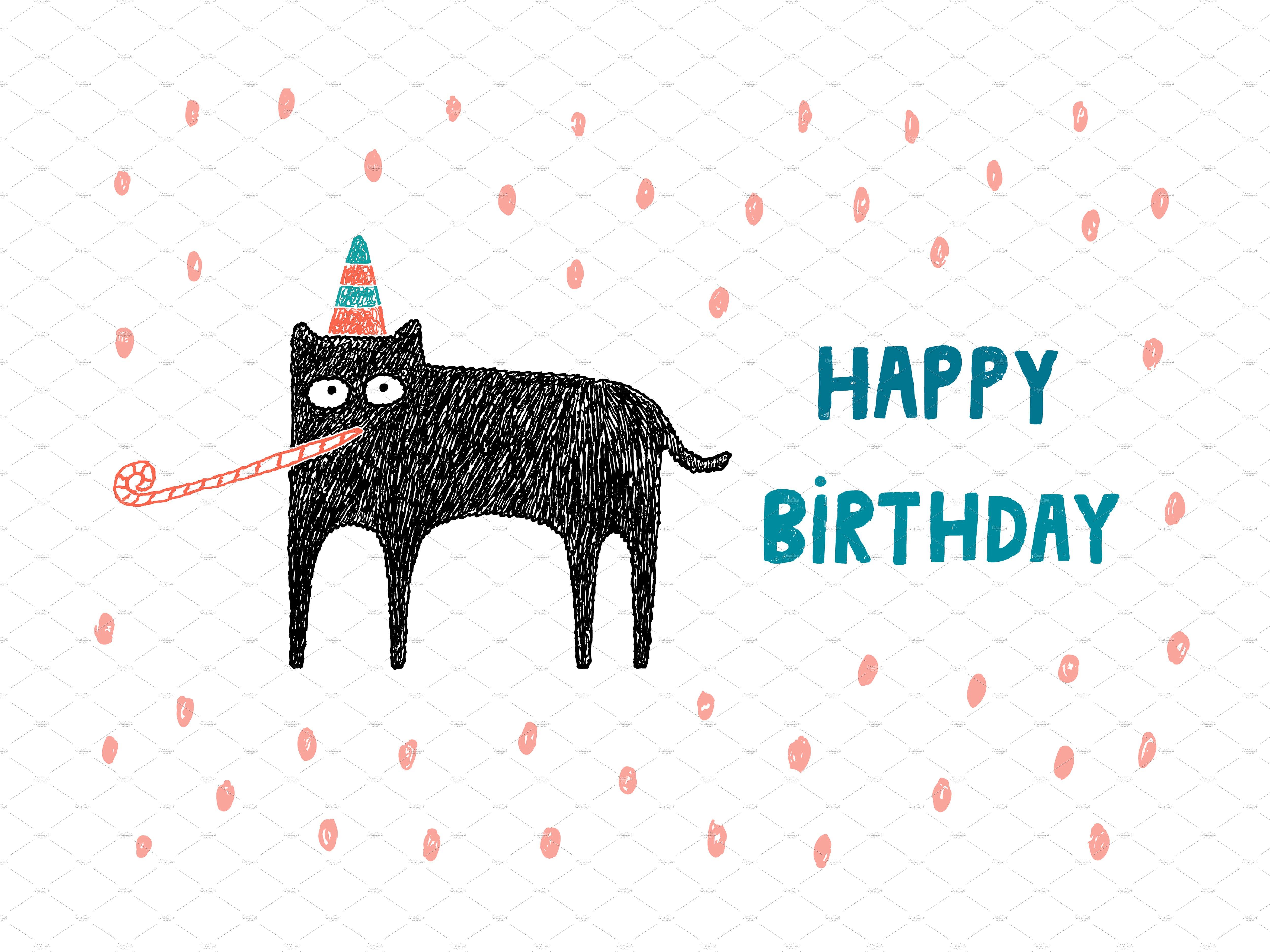 Happy birthday card ~ Illustrations ~ Creative Market