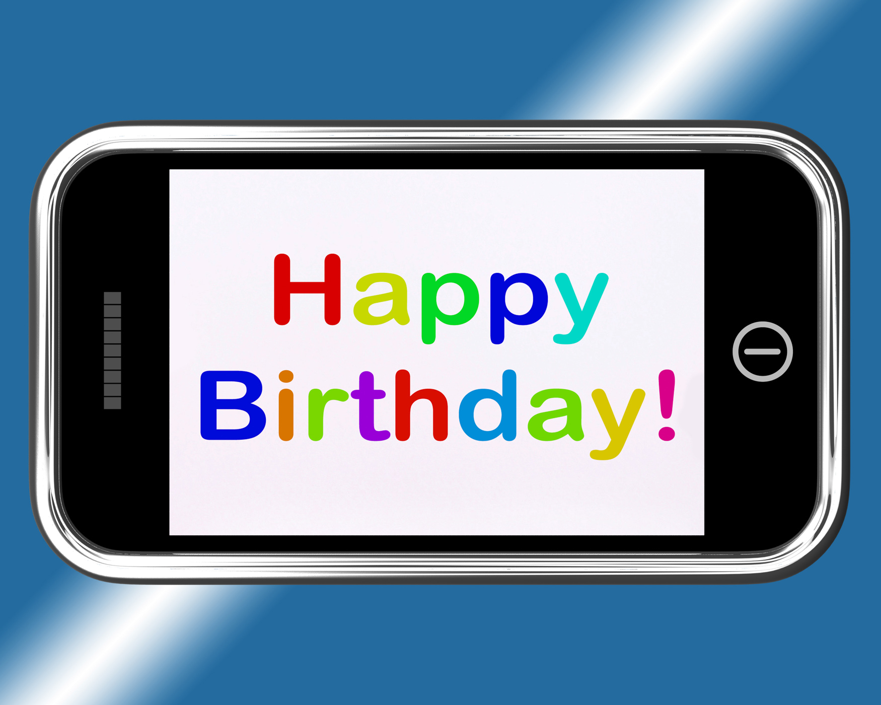 Free photo happy birthday sign on mobile phone shows internet happy birthday sign on mobile phone shows internet greeting phone online multicolored m4hsunfo