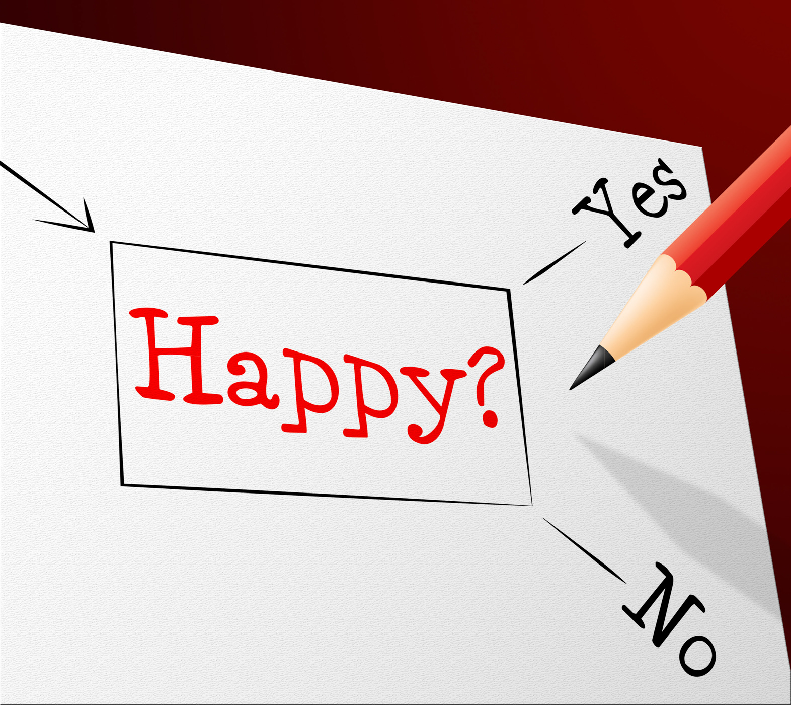 Happy choice represents joy cheerful and alternative photo