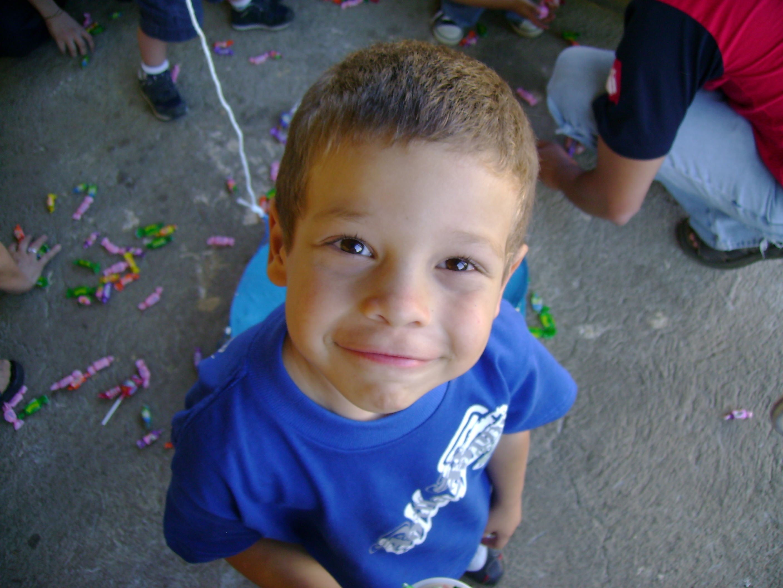 Happy kid, Blue, Boy, Child, Cute, HQ Photo