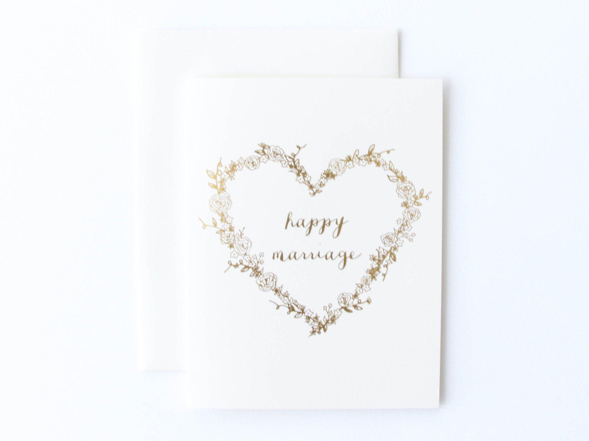 Happy mariage card photo