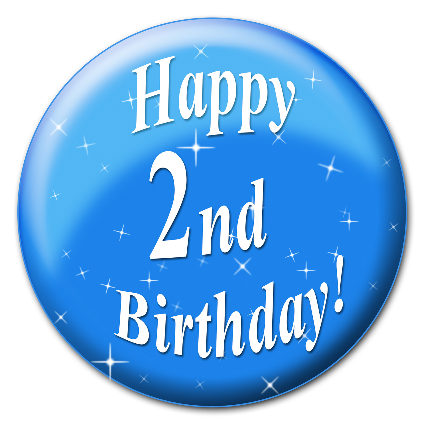Happy second birthday indicates happiness congratulation and party photo