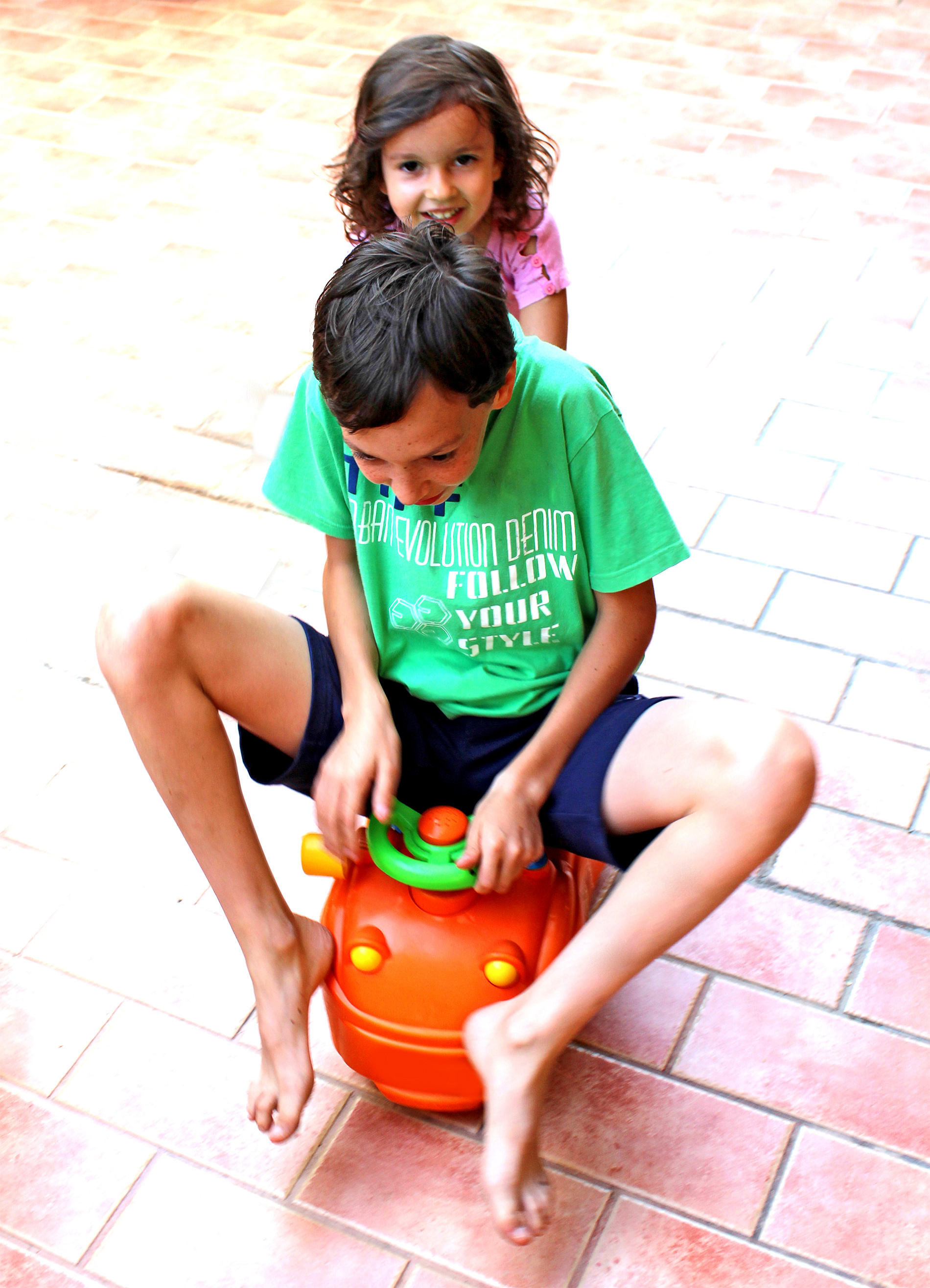 Happy siblings playing together, Activity, Preschooler, Learning, Leisure, HQ Photo