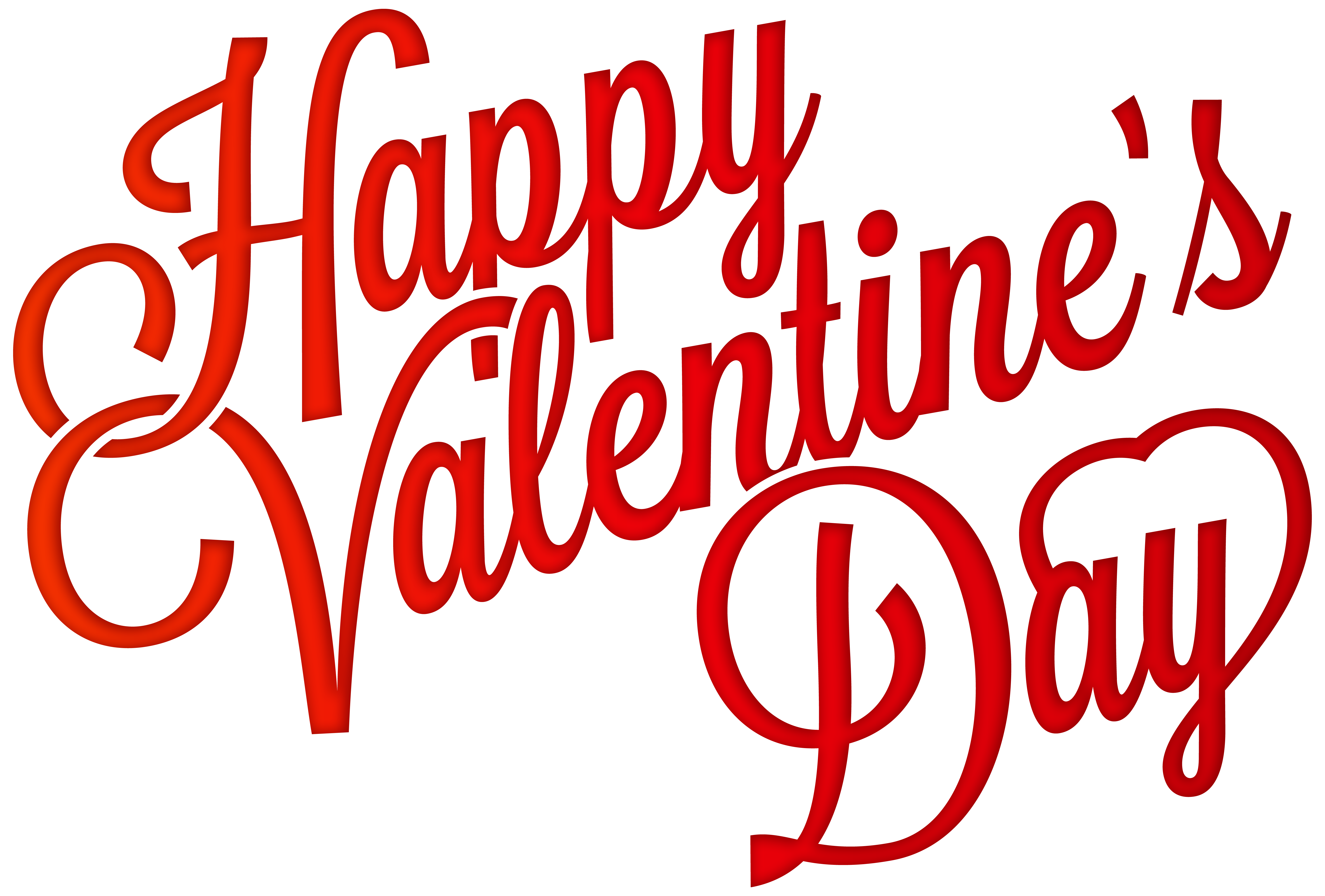 Red Happy Valentine's Day PNG Clip-Art Image | Gallery Yopriceville ...