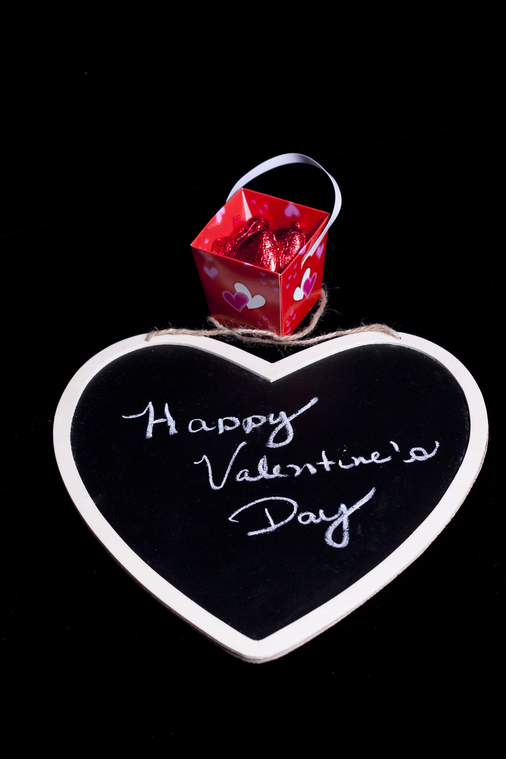 Happy Valentine's Day with Candy, romantic, sign, school, red, HQ Photo