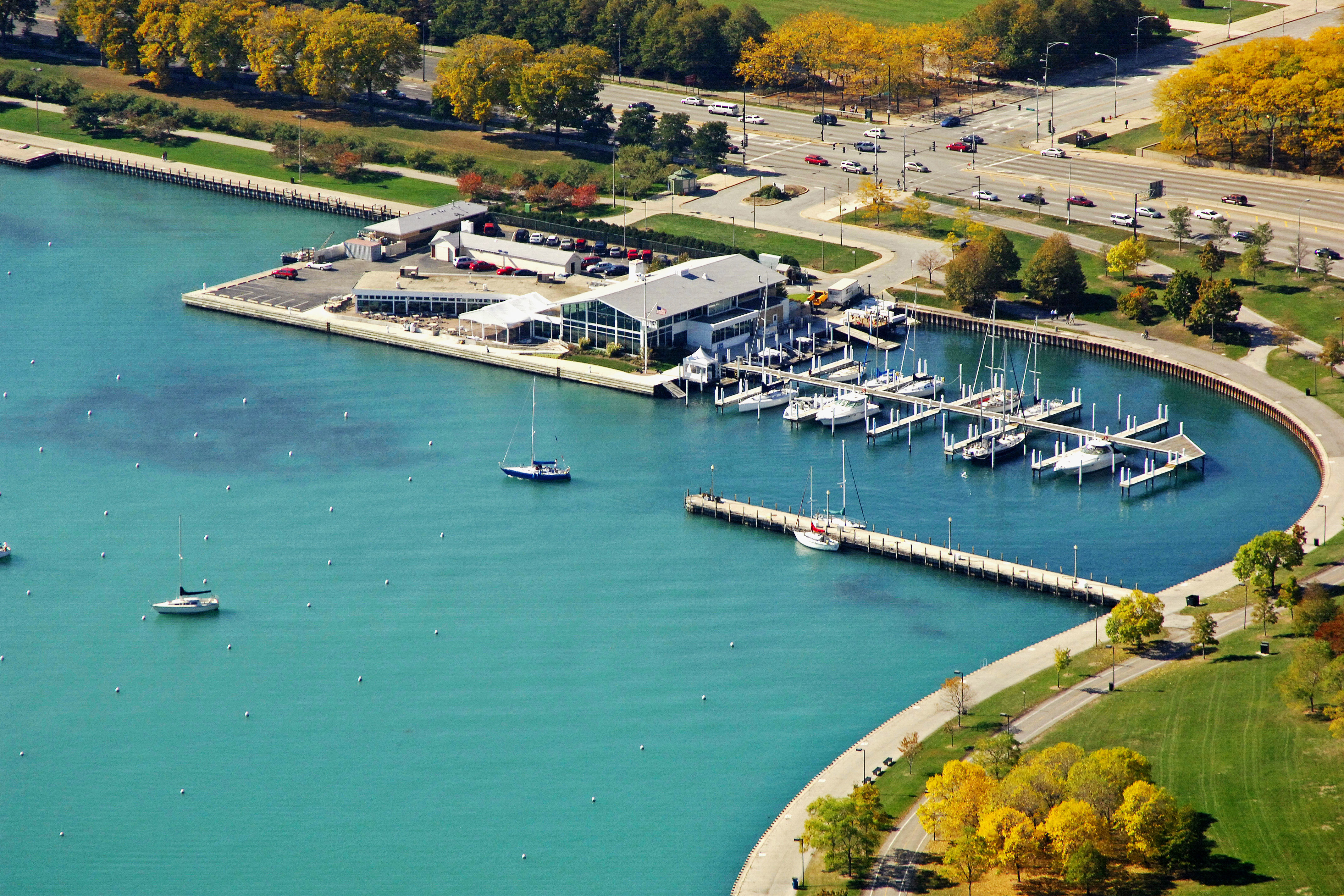 Monroe Harbor, the Chicago Harbors in Chicago, IL, United States ...