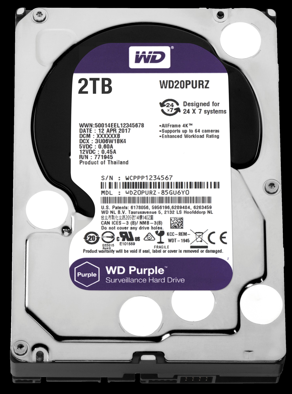 WD WD20PURZ 2TB SATA 3.5