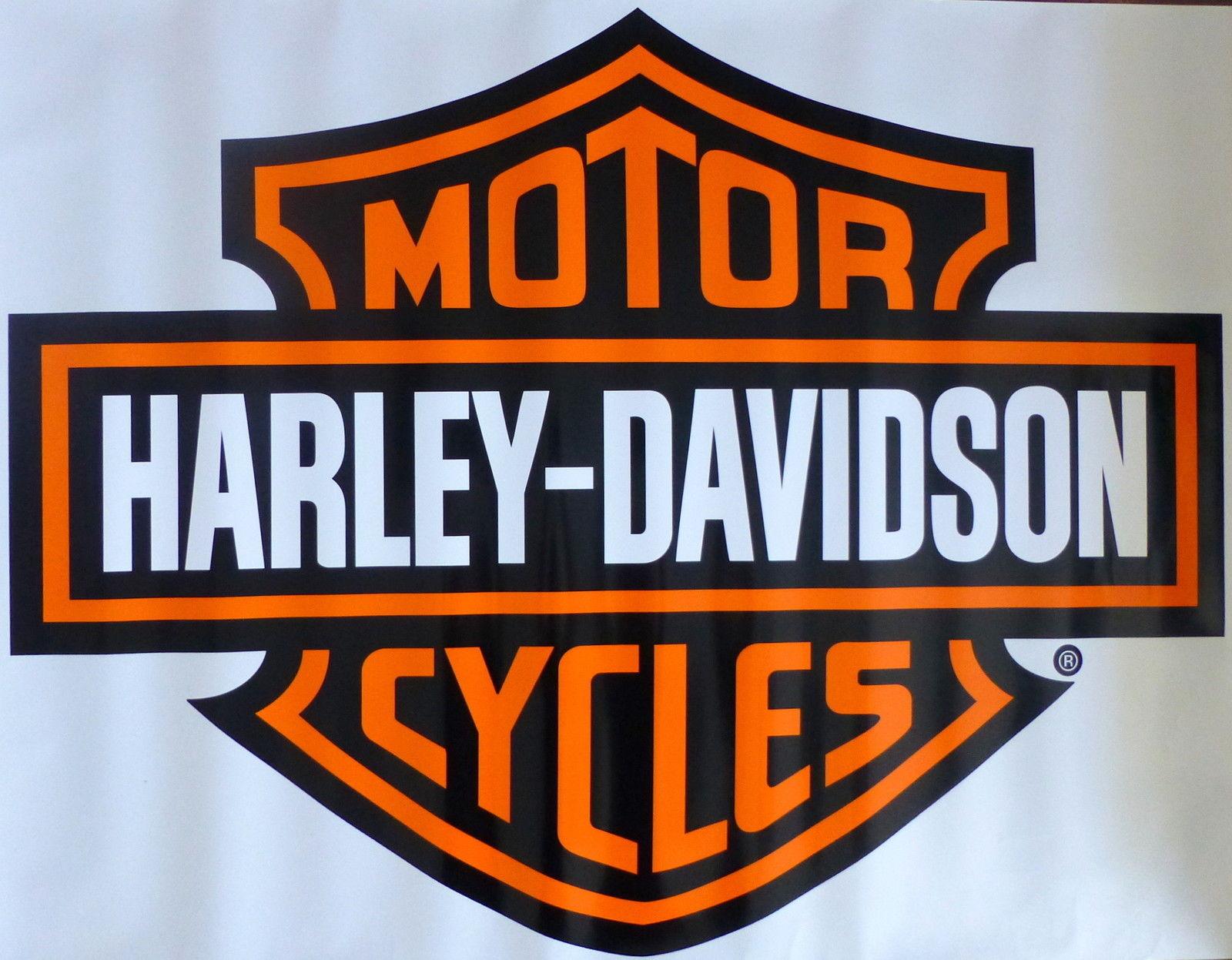Harley Davidson Bar Shield Extra Large Trailer Decal Sticker | eBay