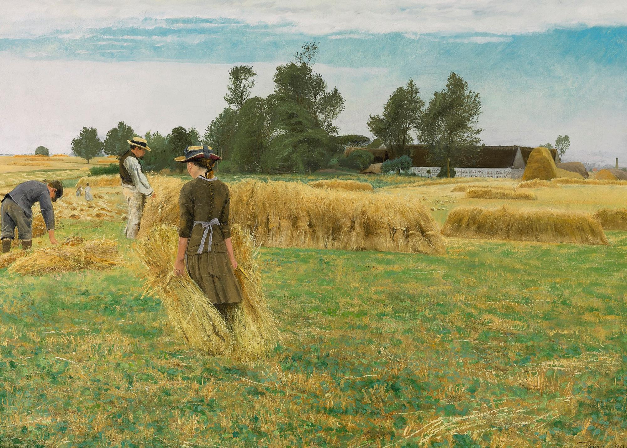 Laurits Andersen Ring (Denmark 1854 - 1933) - Harvest time, Ladby