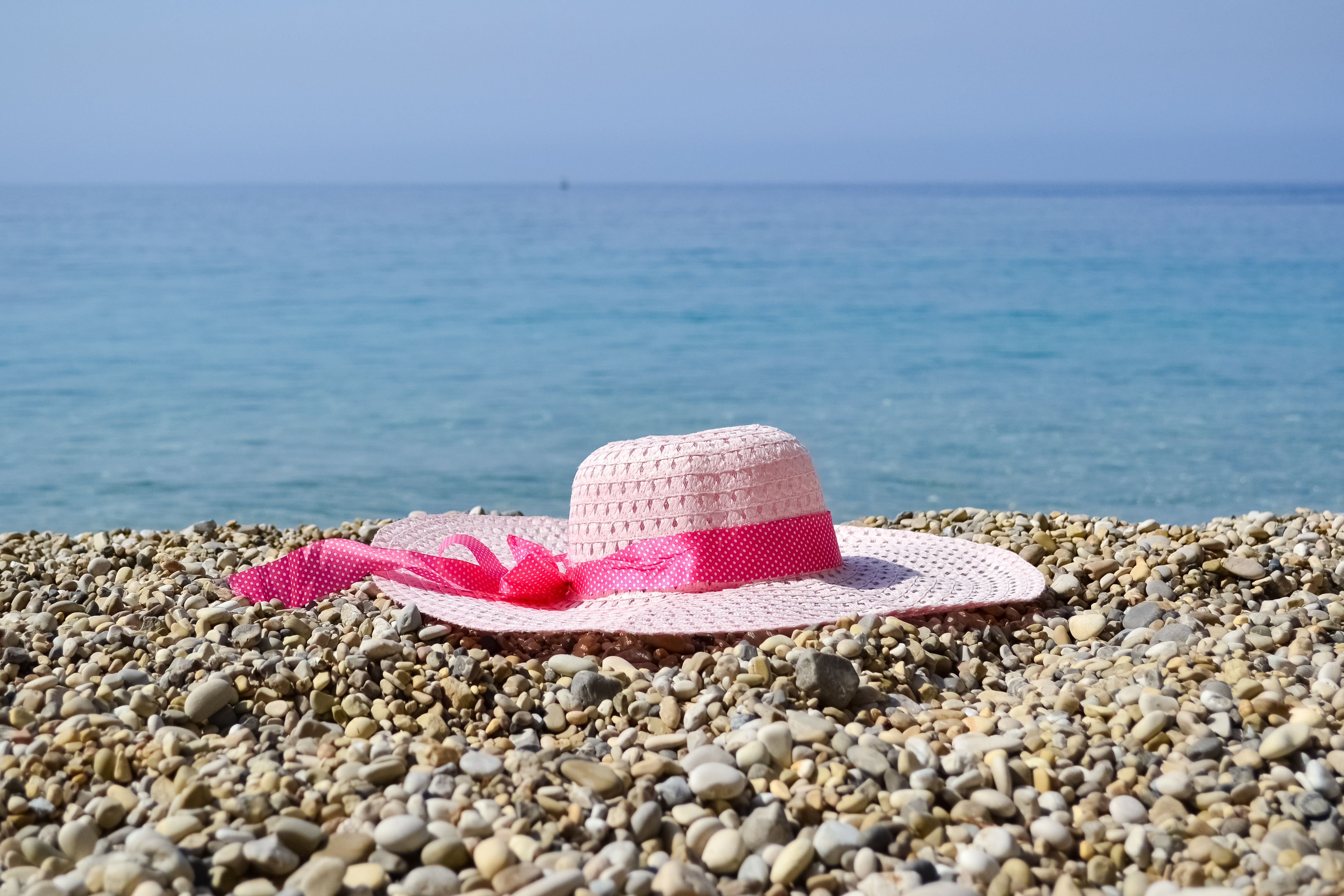 Hat near the sea photo