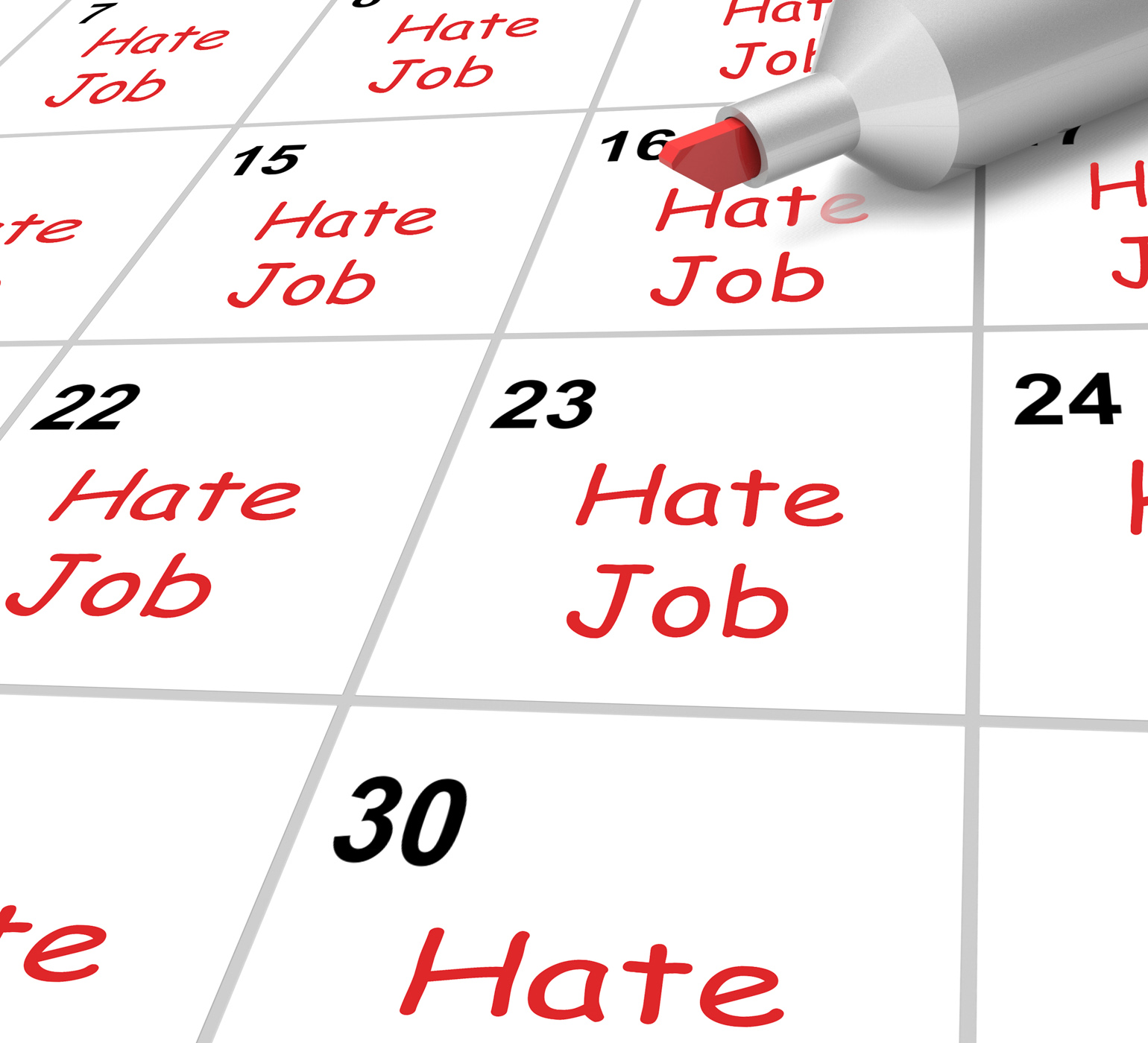 Calendar Photography Jobs : Free photo hate job calendar shows loathing work and