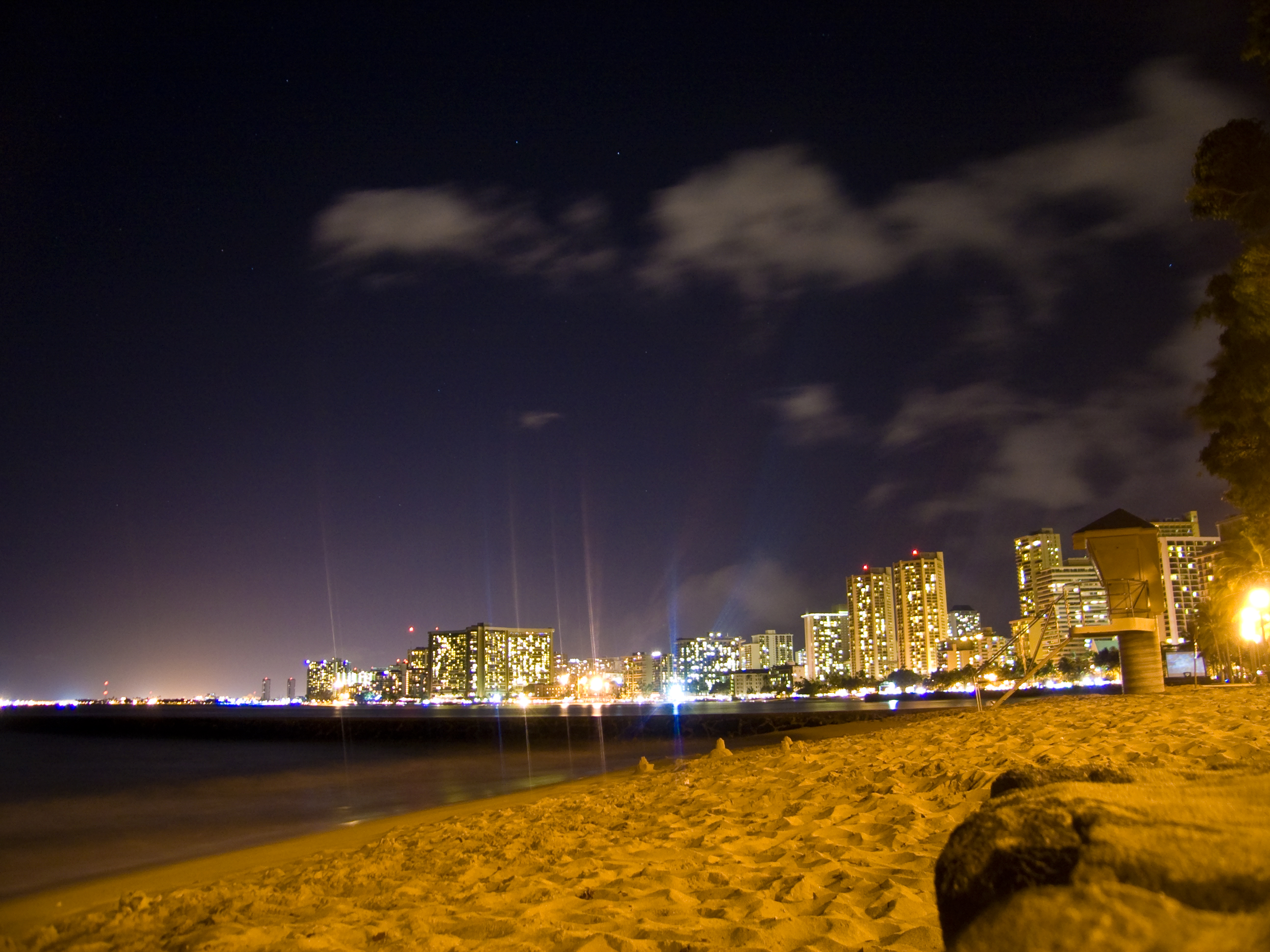 Hawaii at night photo