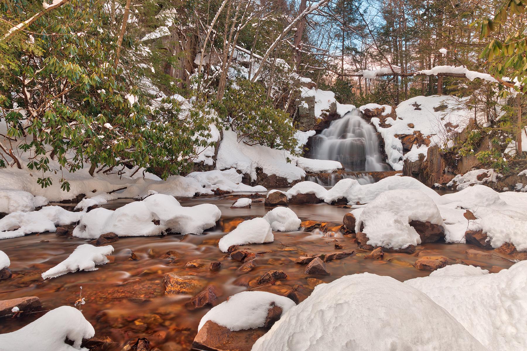 Hawk falls winter stream - hdr photo