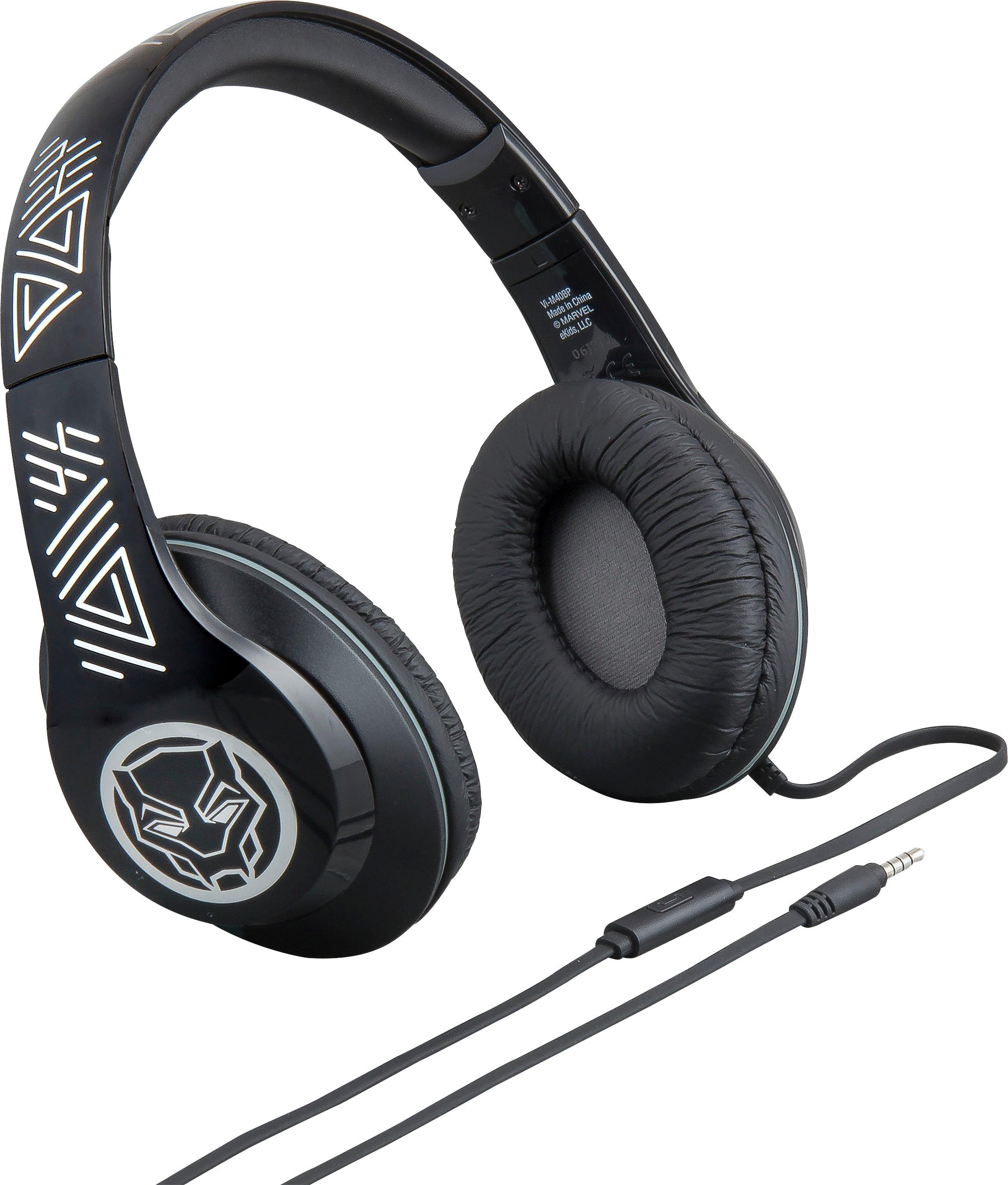Marvel Black Panther Over-the-Ear Headphones Black VI-M40BP.FXV8M ...