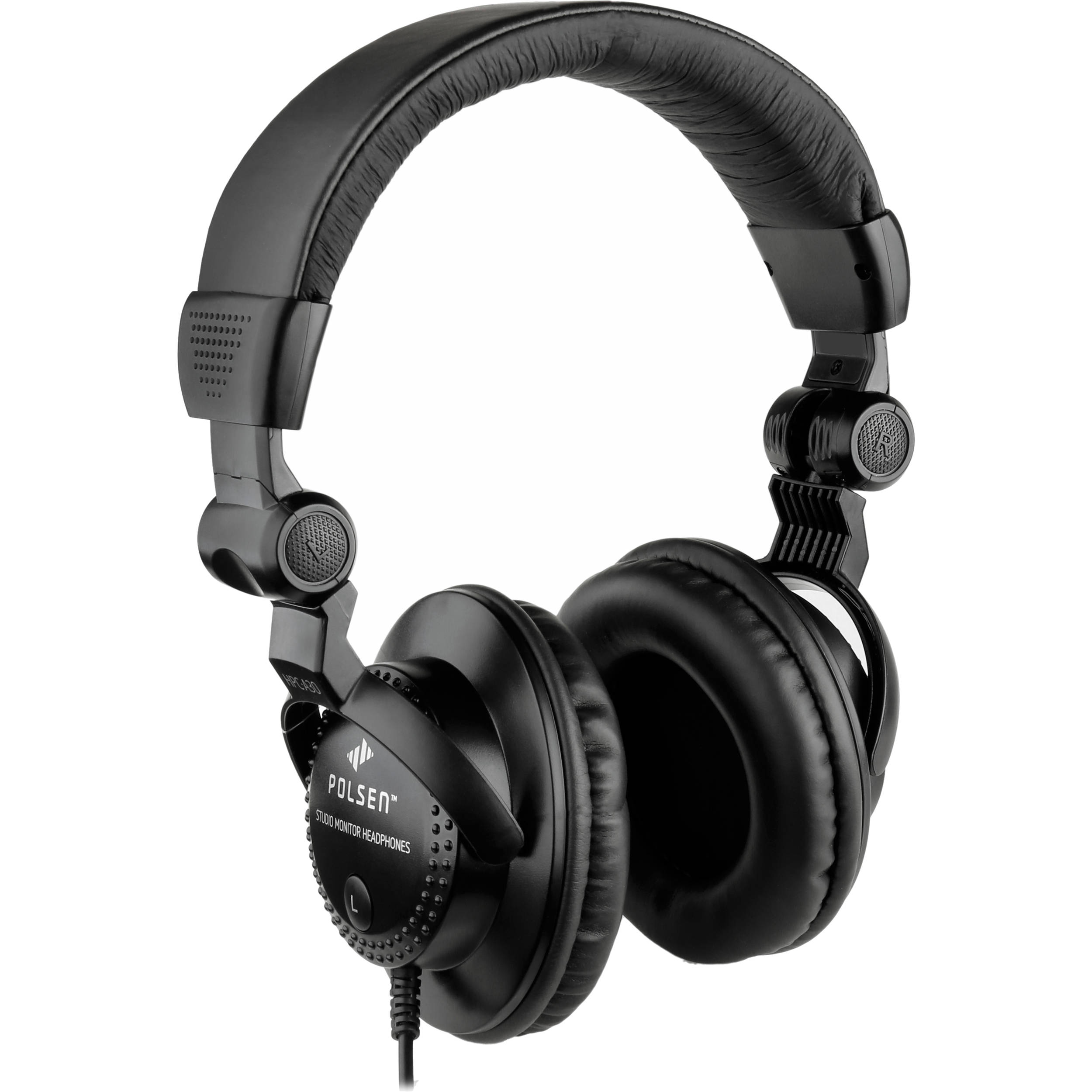 Polsen HPC-A30 Closed-Back Studio Monitor Headphones HPC-A30 B&H