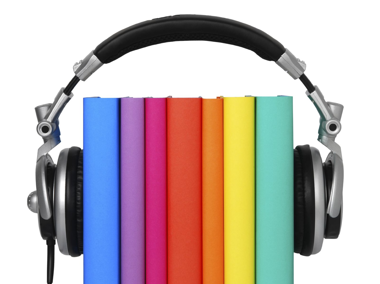 Headphones and books photo